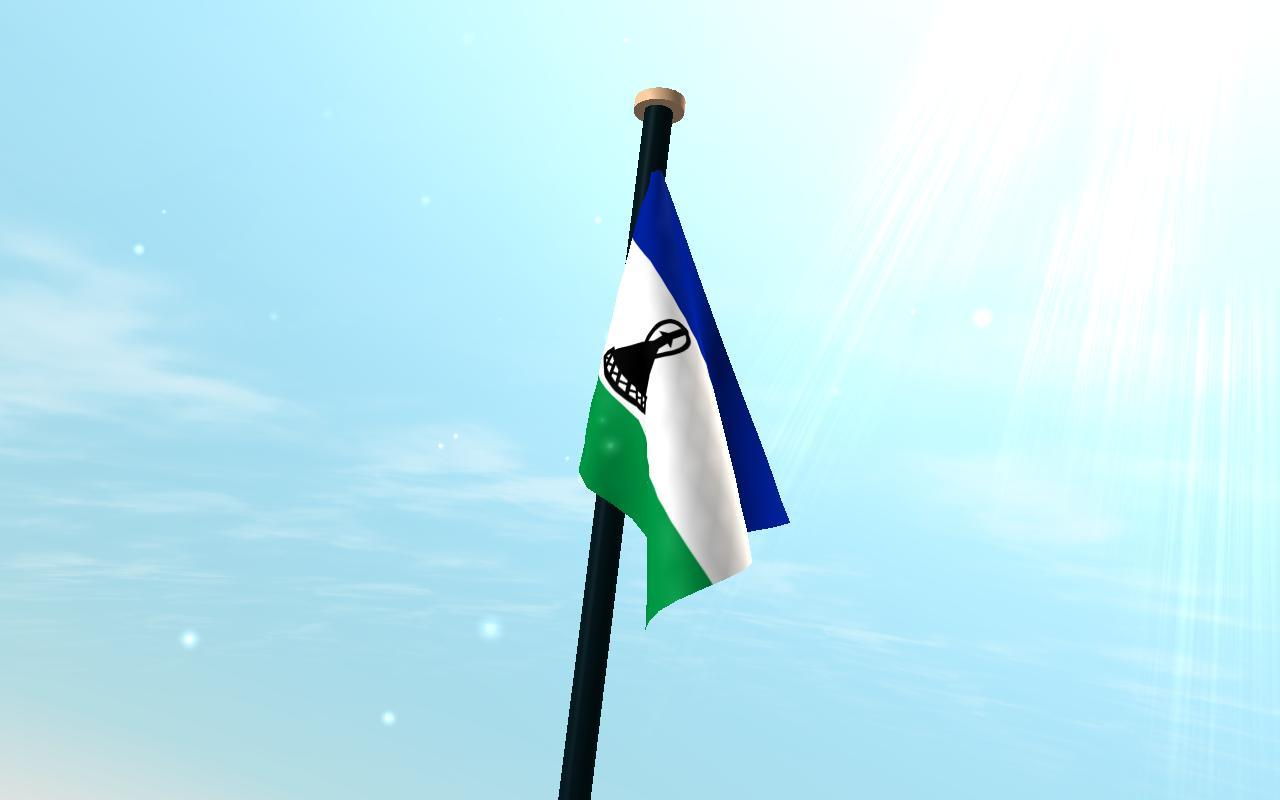 Lesotho Flag 3D Free Wallpapers for Android