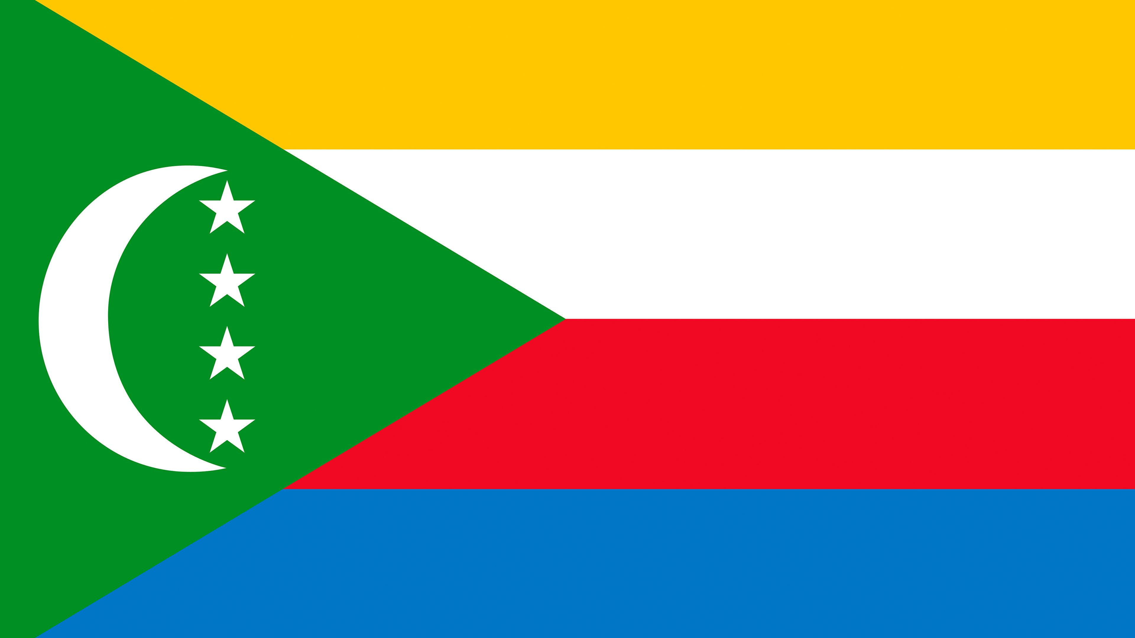 Wallpapers Comoros Flag Stripes 3840x2160
