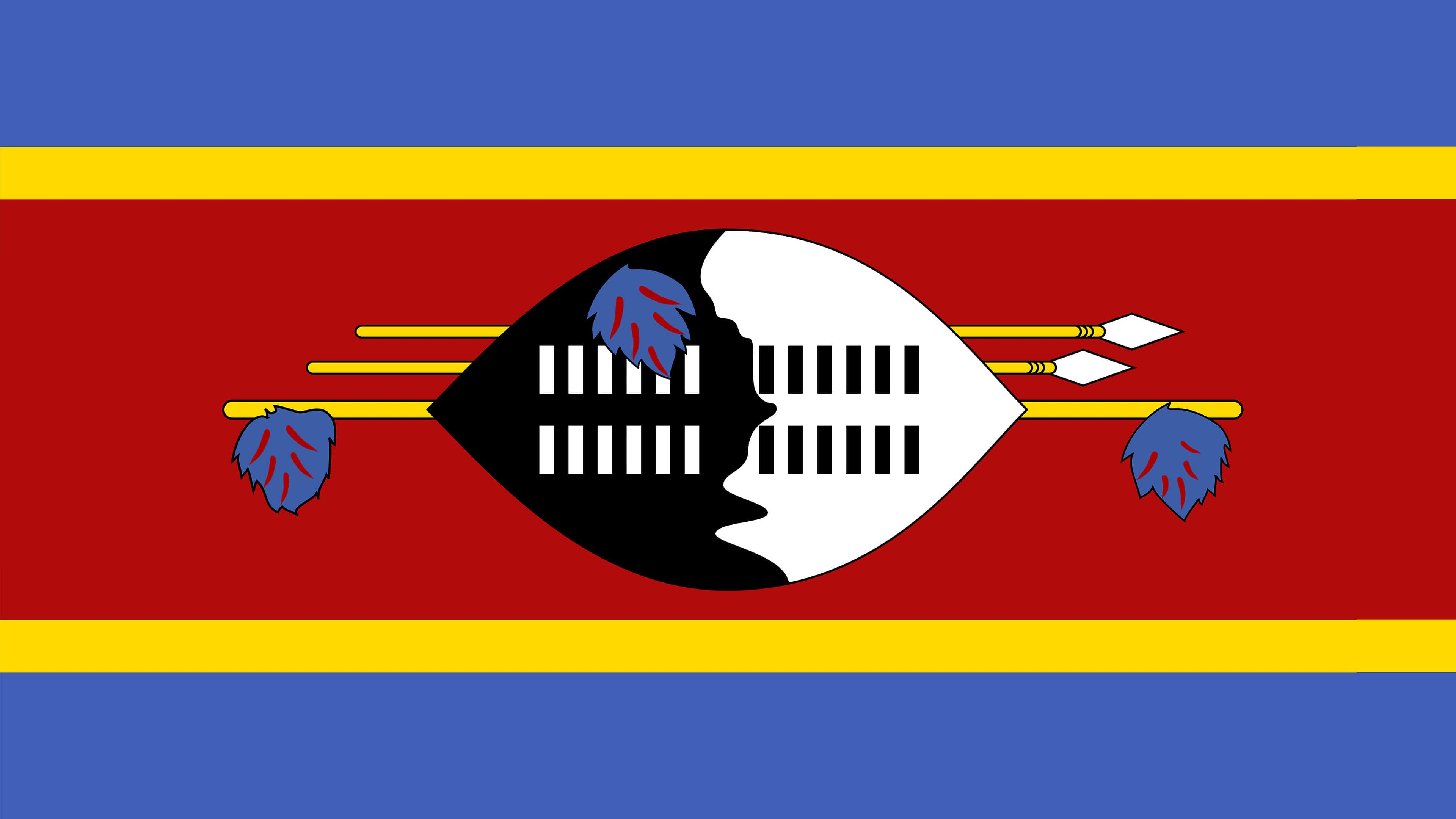 Eswatini Flag UHD 4K Wallpaper | Pixelz