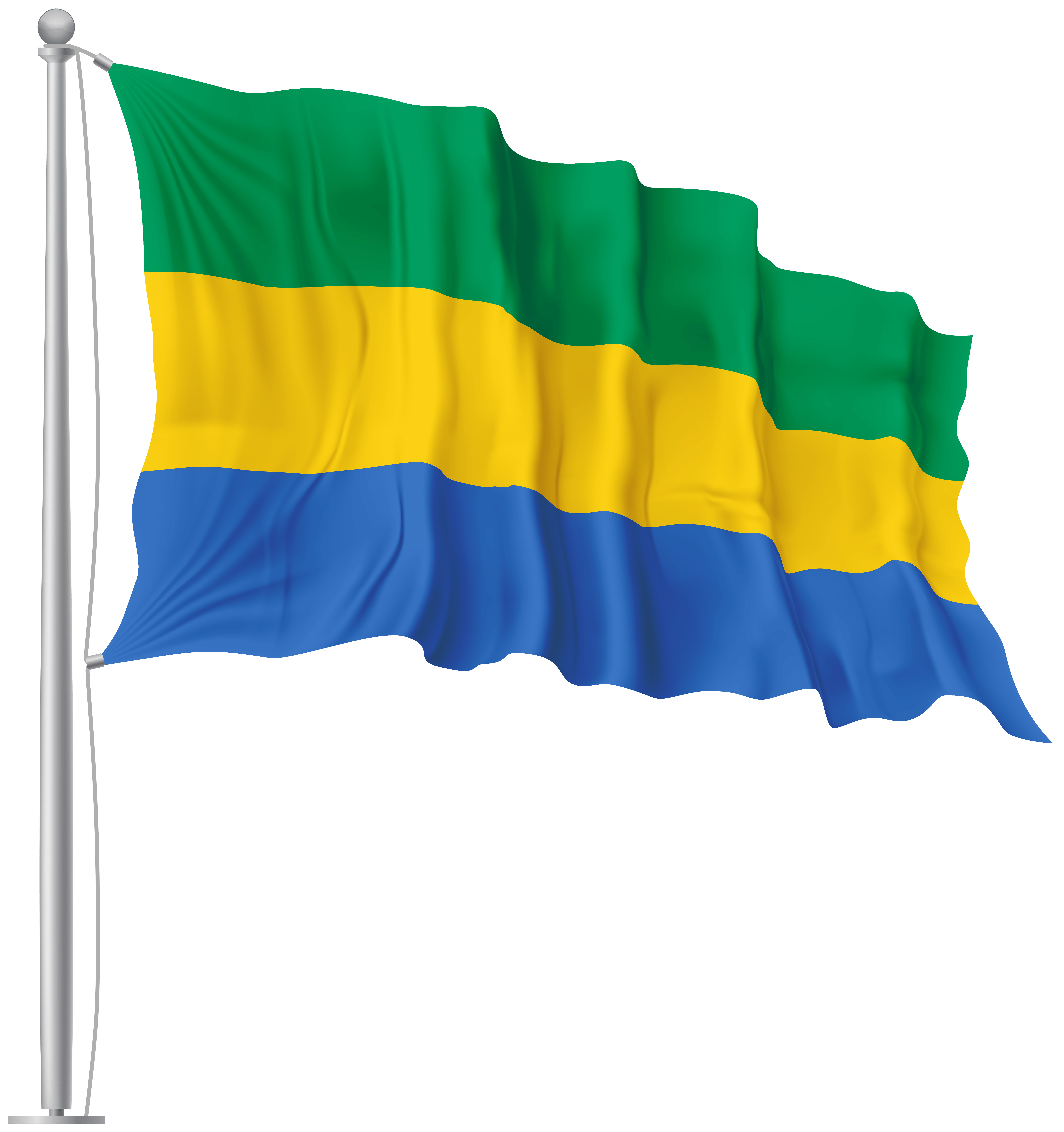 Gabon Waving Flag PNG Image | Gallery Yopriceville - High-Quality ...