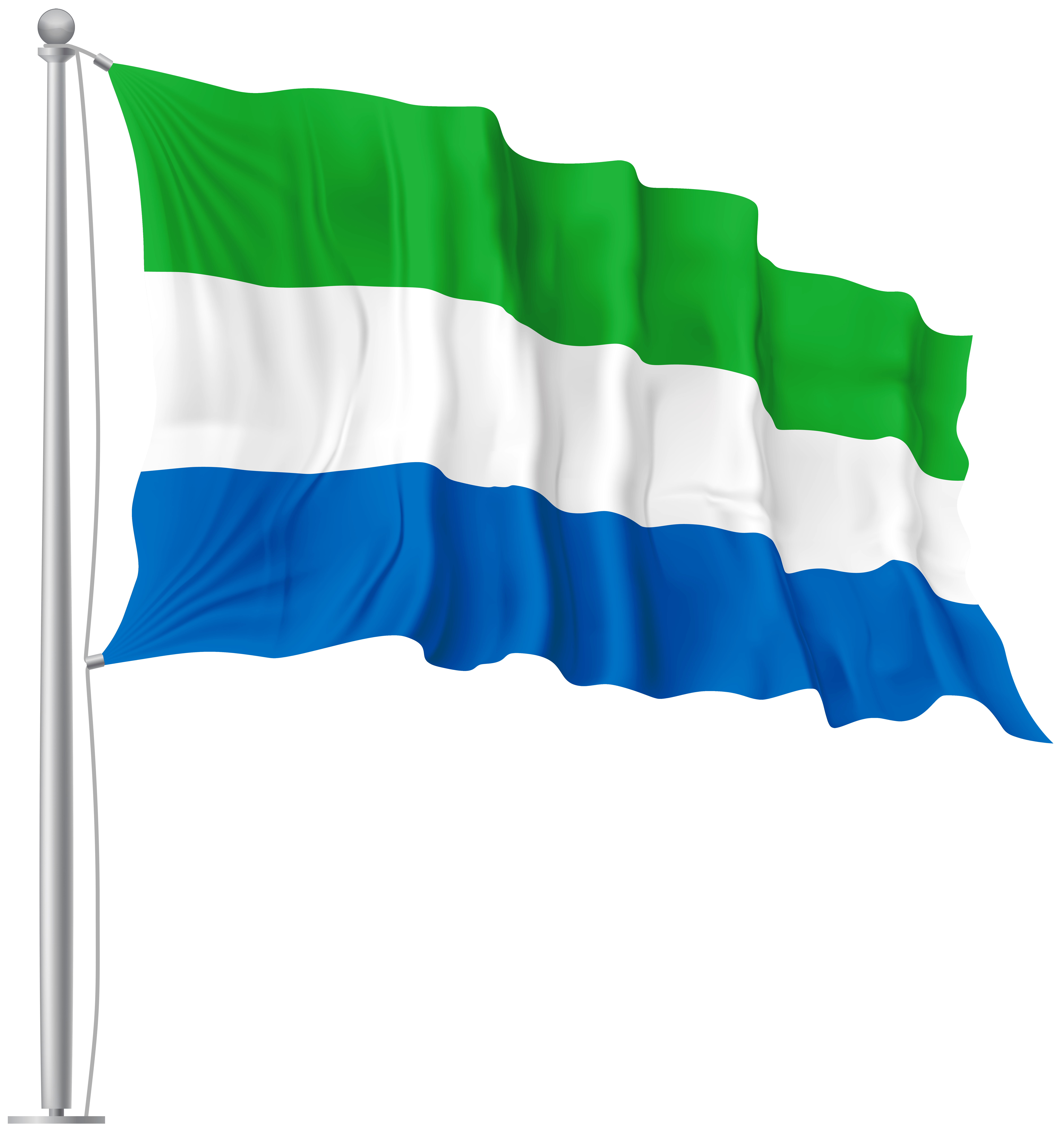 Sierra Leone Waving Flag PNG Image | Gallery Yopriceville - High ...