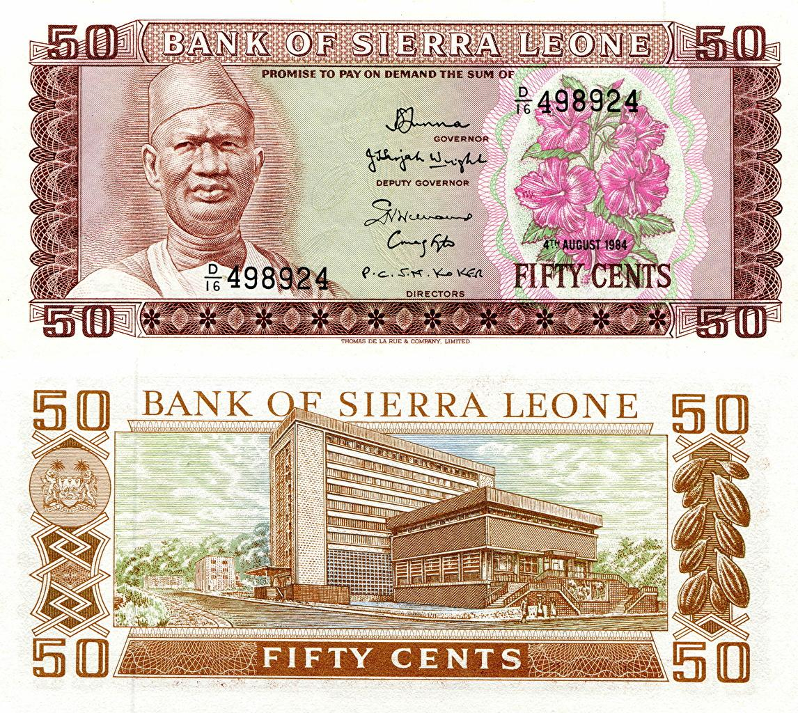 Wallpapers Banknotes 50 cents Sierra Leone Money