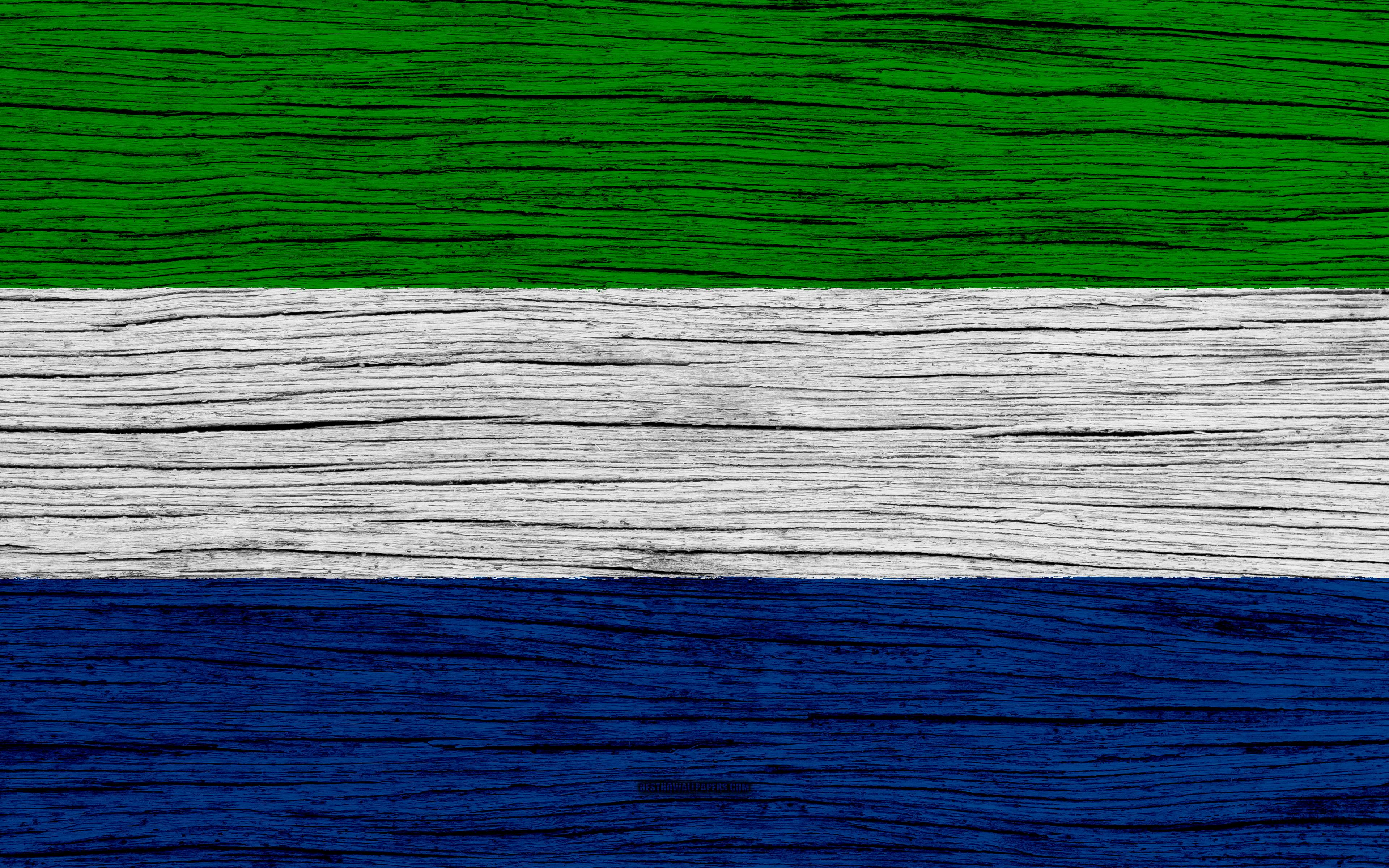 Download wallpapers Flag of Sierra Leone, 4k, Africa, wooden texture ...