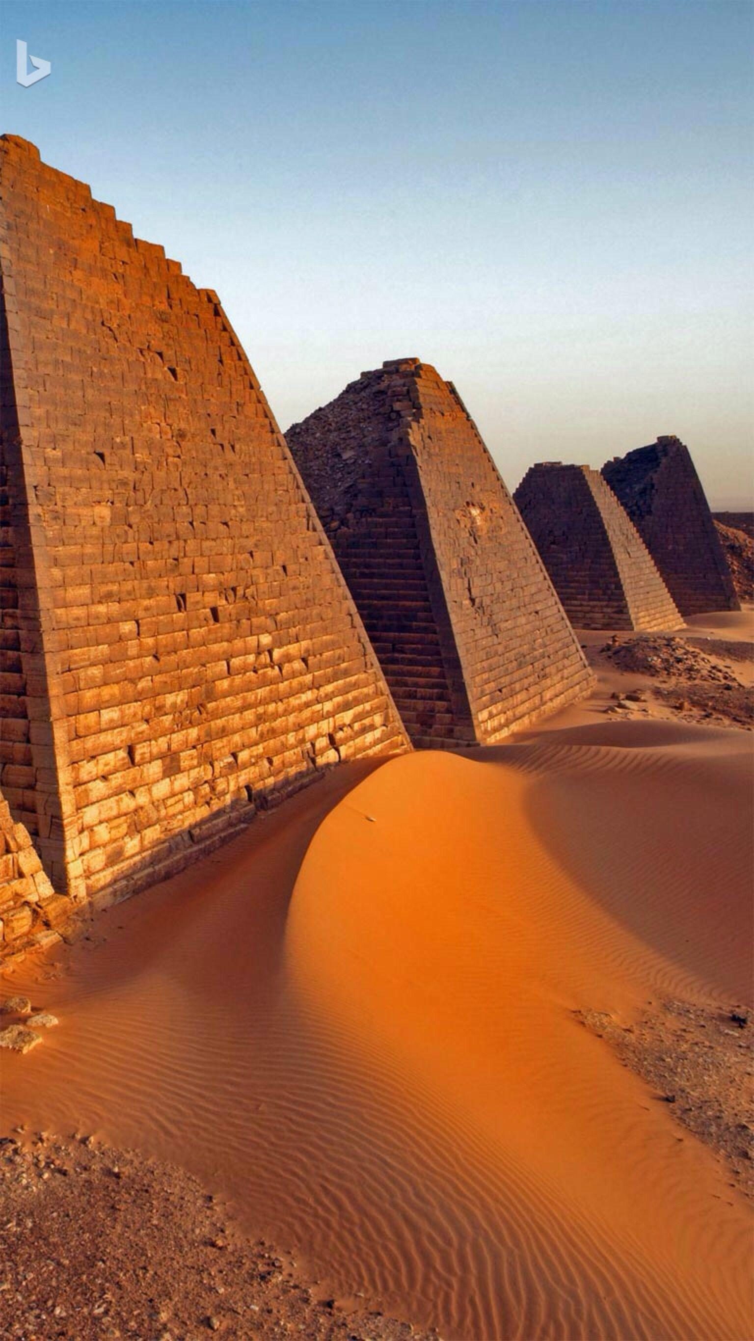 Pyramids at Meroë, Sudan. Bing wallpaper. | Archaeology ...