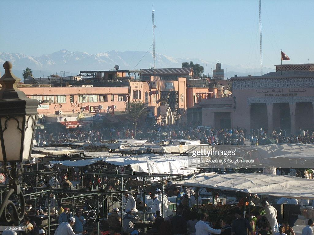 Jemaa Elfnaa Square In Marrakech Stock Photo | Getty Images