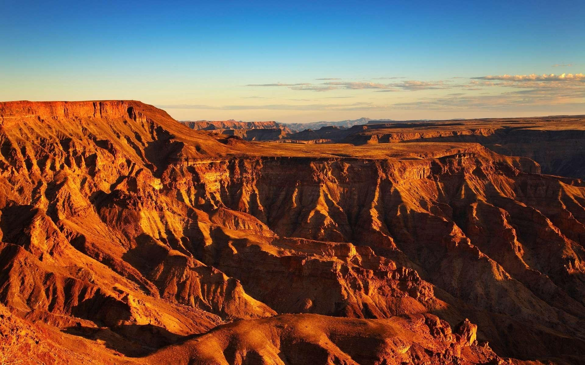 Wallpaper fish river canyon, namibia, africa, canyon, morning ...