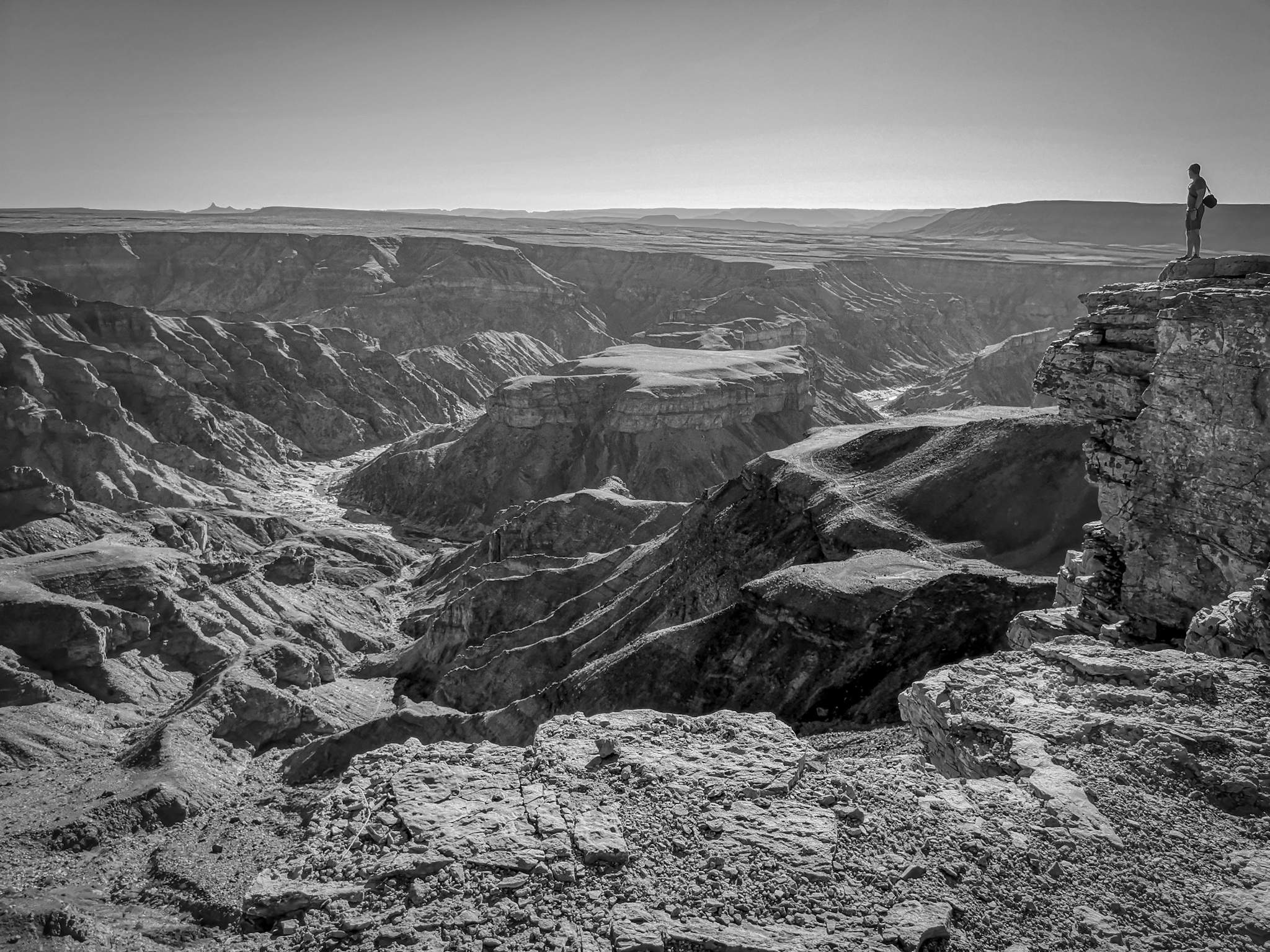 Fish River Canyon - Namibia Africa black & white — Steemit