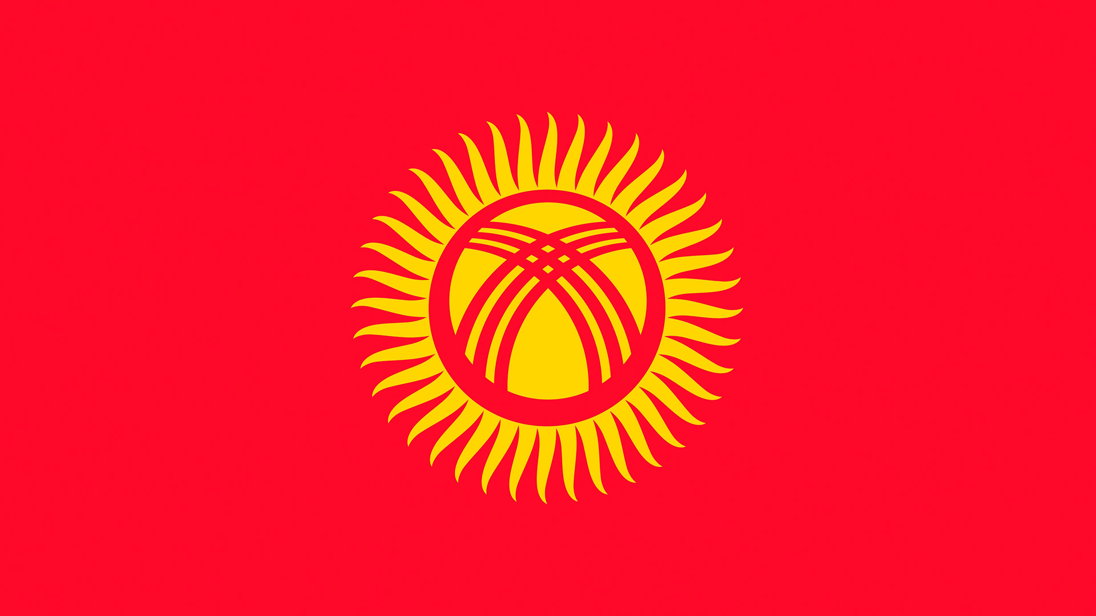 Wallpapers Kyrgyzstan Flag 3840x2160
