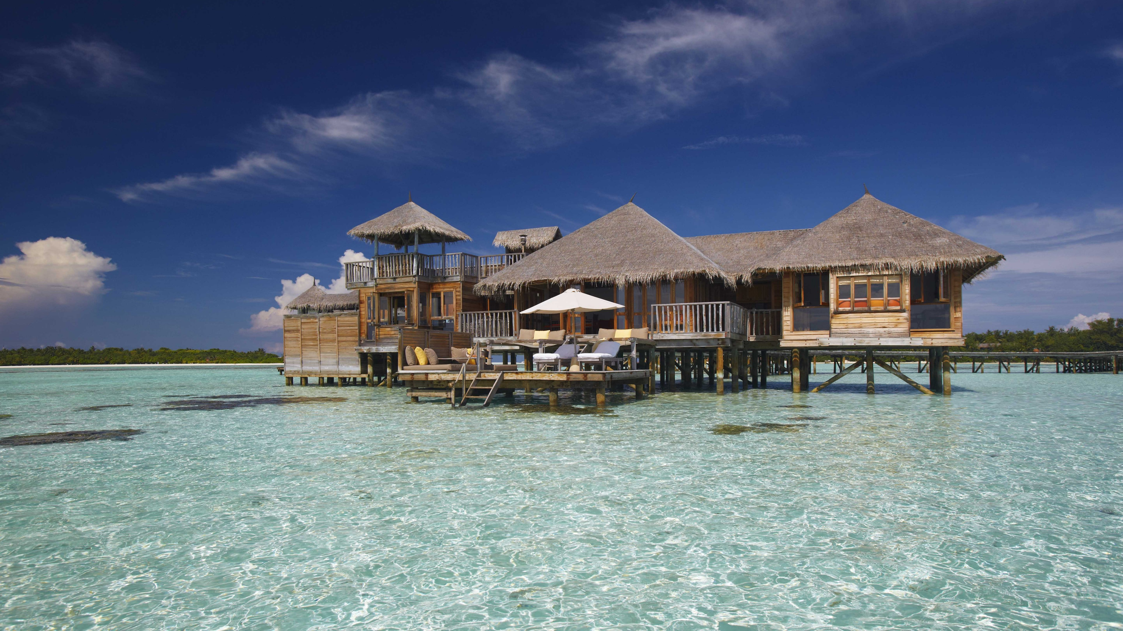 Wallpapers Gili Lankanfushi, 5k, 4k wallpaper, Maldives, Best Hotels