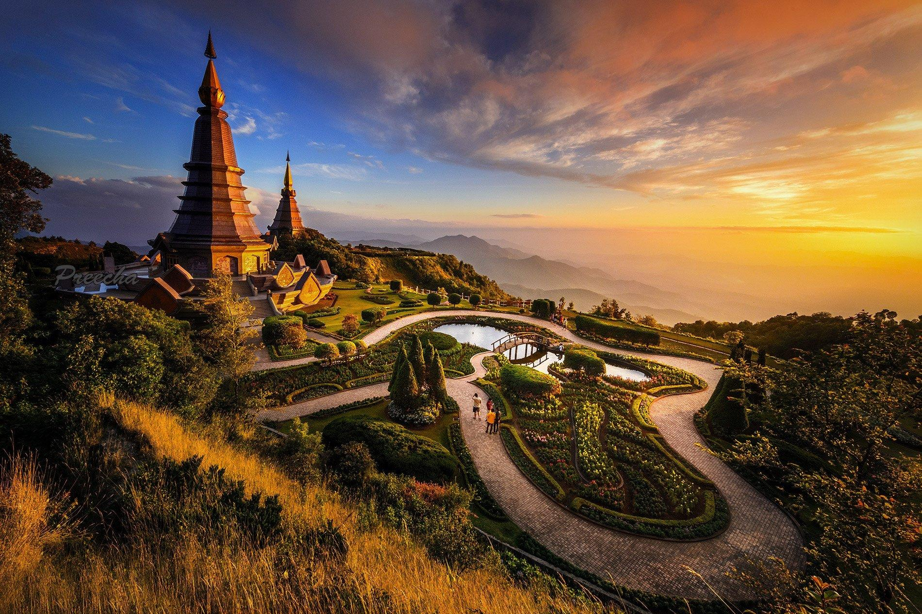 Afternoon Light, Chiang Mai Province, Thailand Wallpapers and