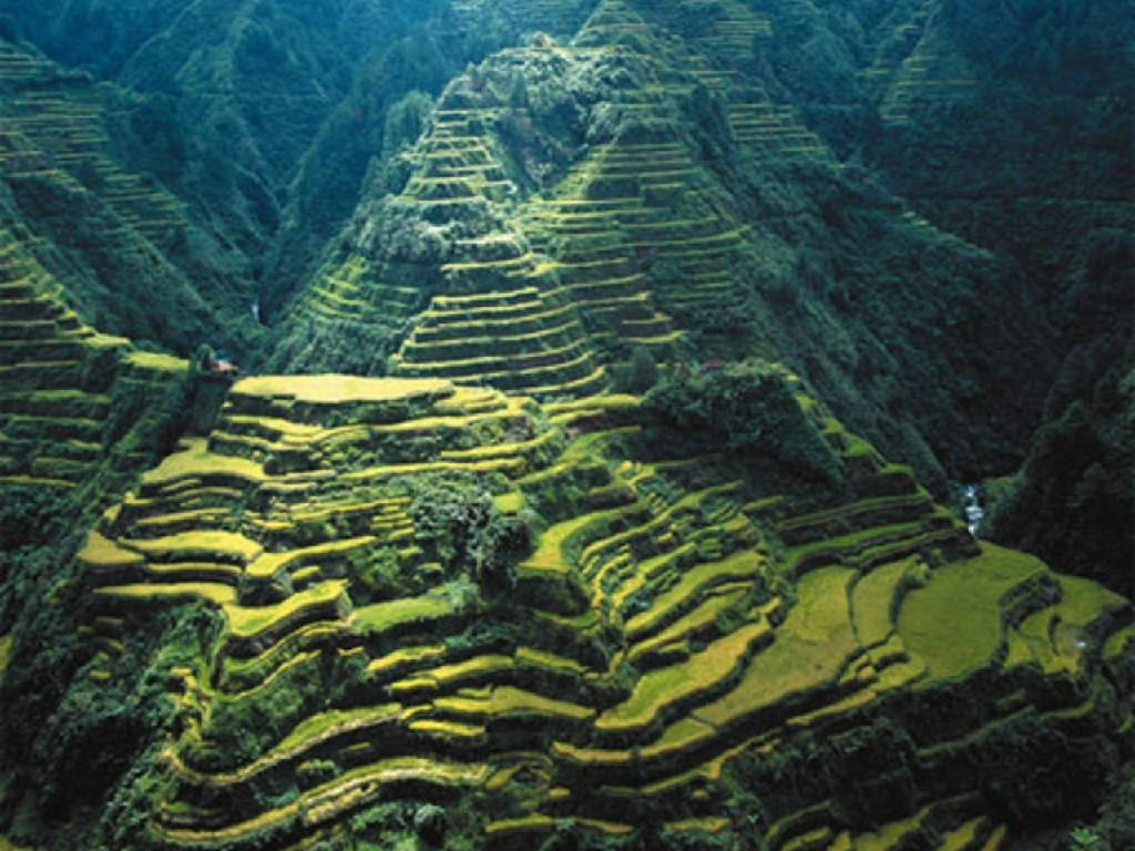 Stairways Heaven Banaue Rice Terraces Rerrces Mountains Green ...