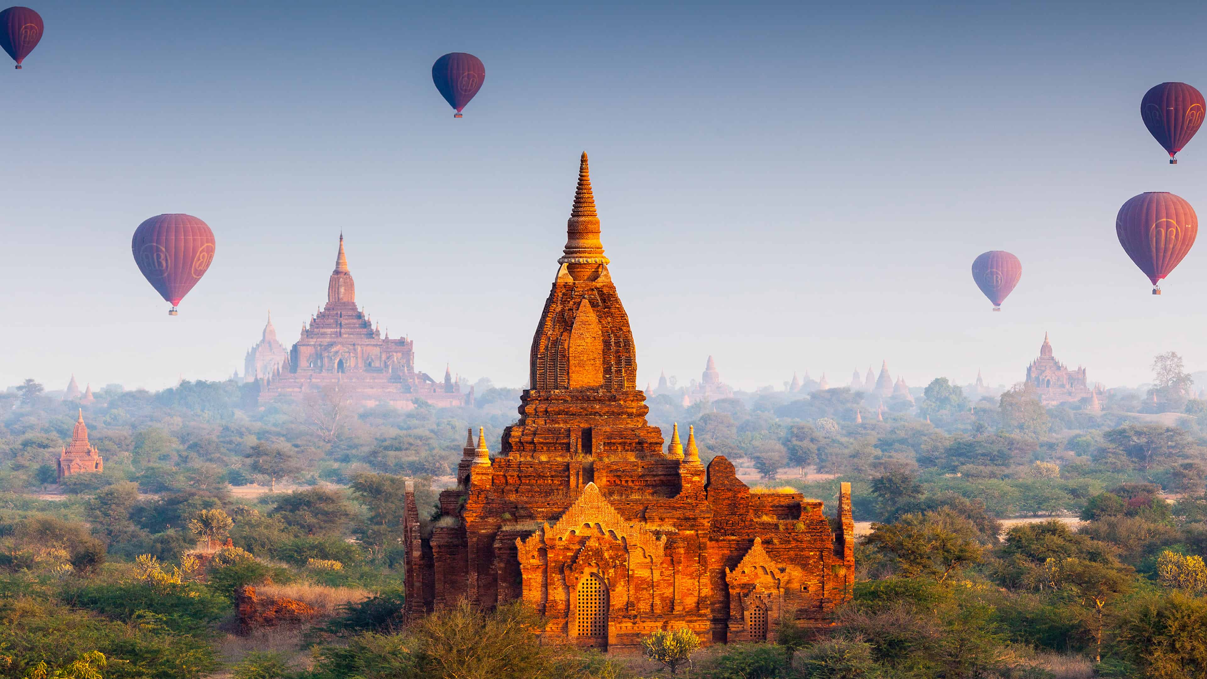 Buddhist Temples Bagan Myanmar UHD 4K Wallpapers