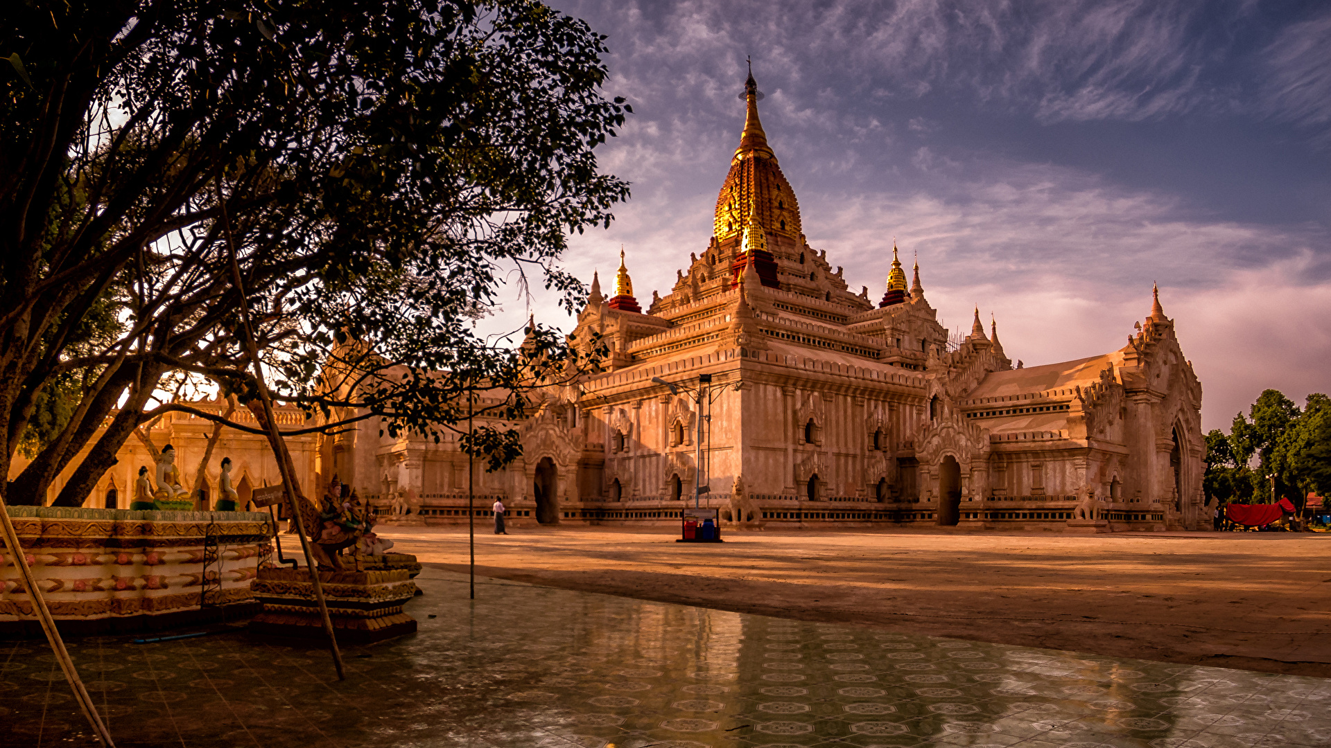 Wallpapers Bagan Myanmar Temples Cities Sculptures 1920x1080