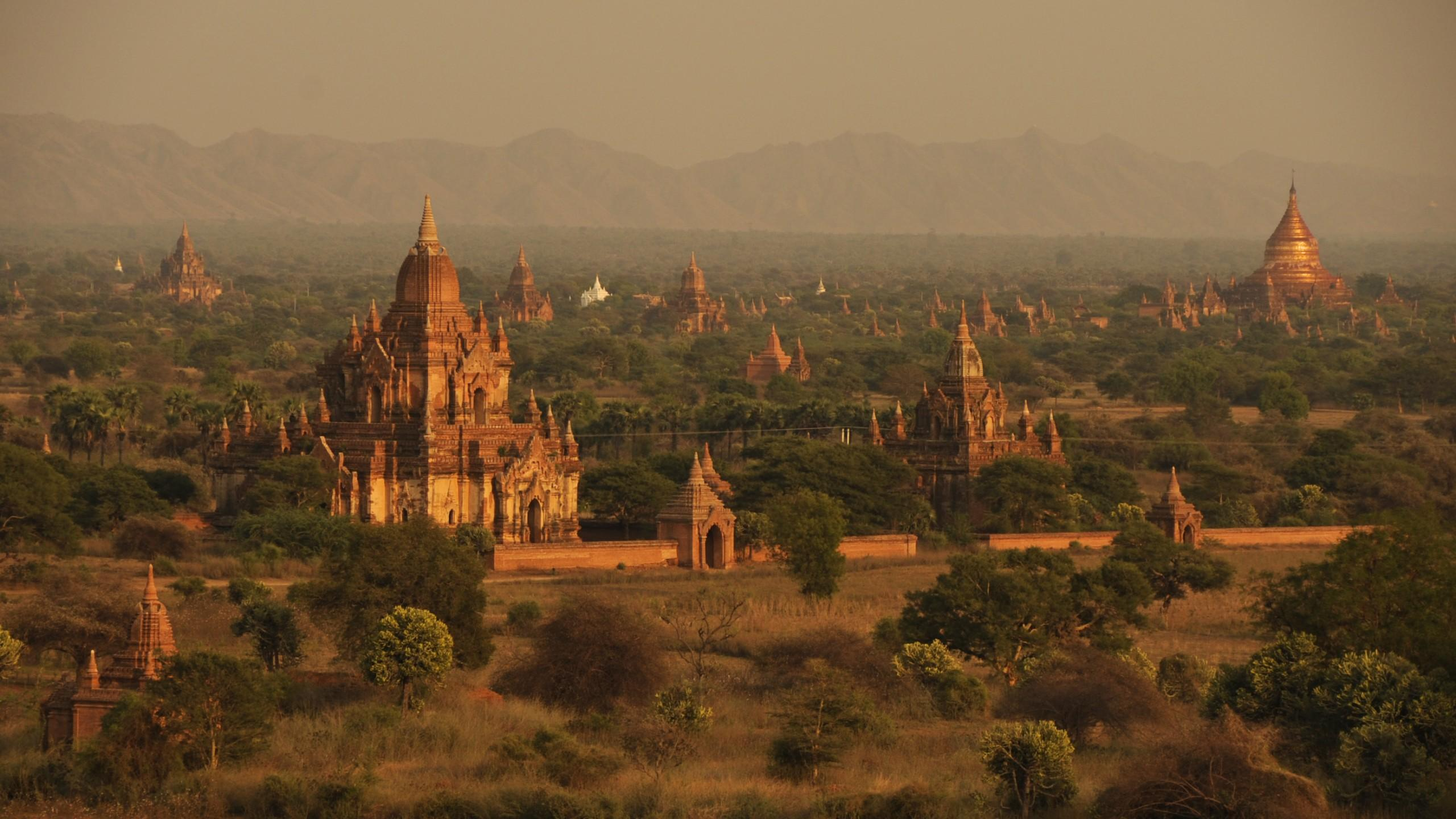 Wallpapers Bagan Temples, Myanmar, travel, tourism, booking, Travel