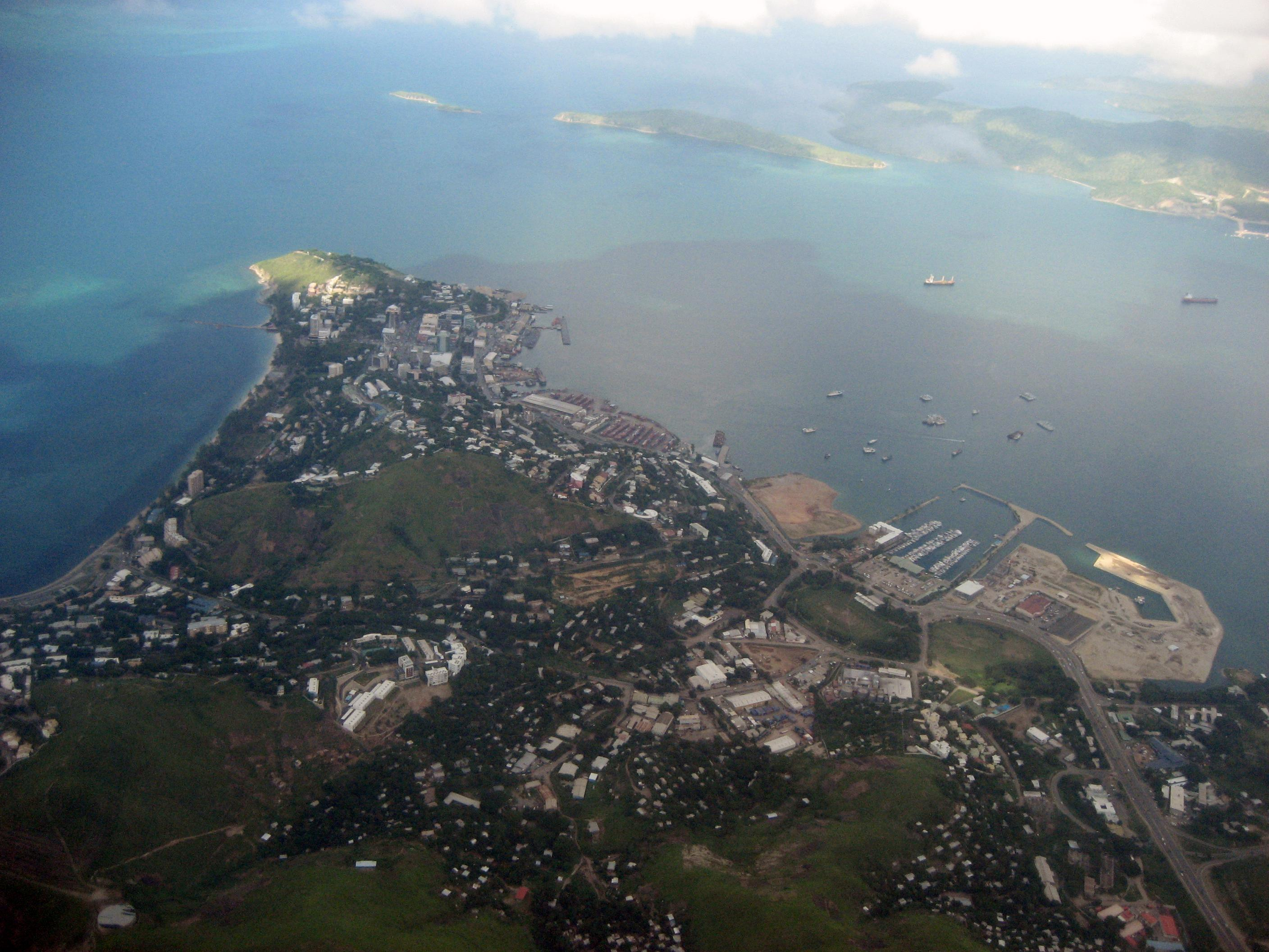 File:Aerial view of Port Moresby.jpg
