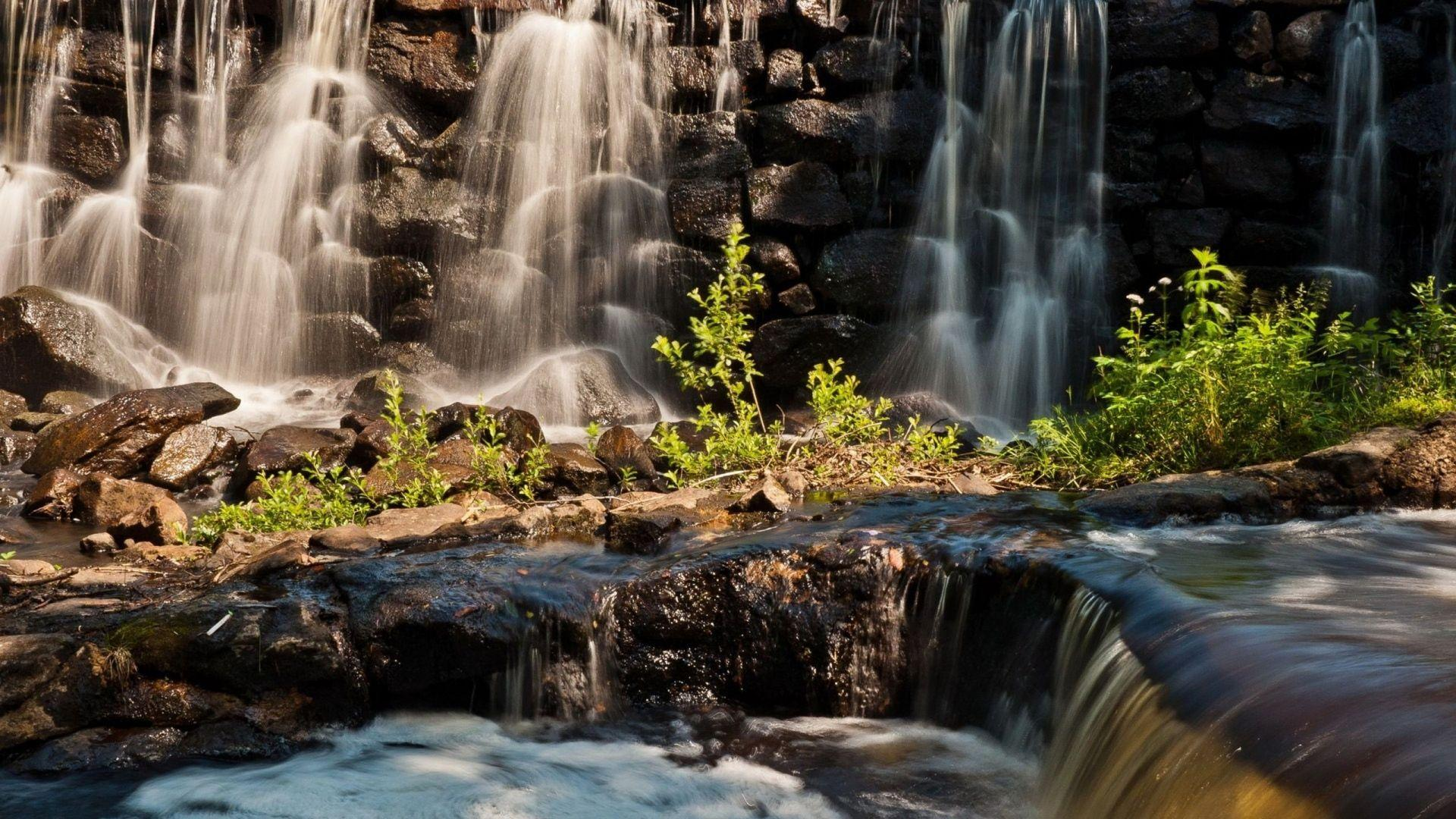 Rocks Waterfall Wallpapers Wallpaper Cave