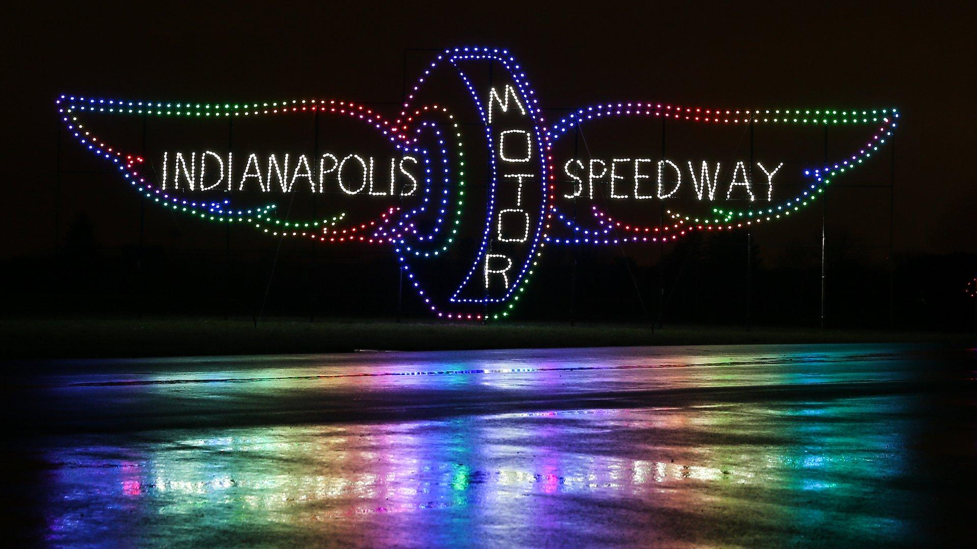 See What the Indianapolis Motor Speedway Looks Like Decorated With ...