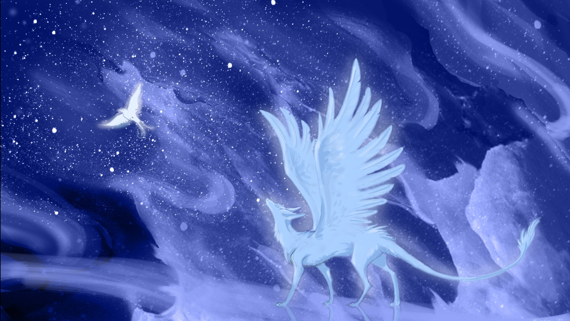 Wolf With Wings Wallpapers Wallpaper Cave