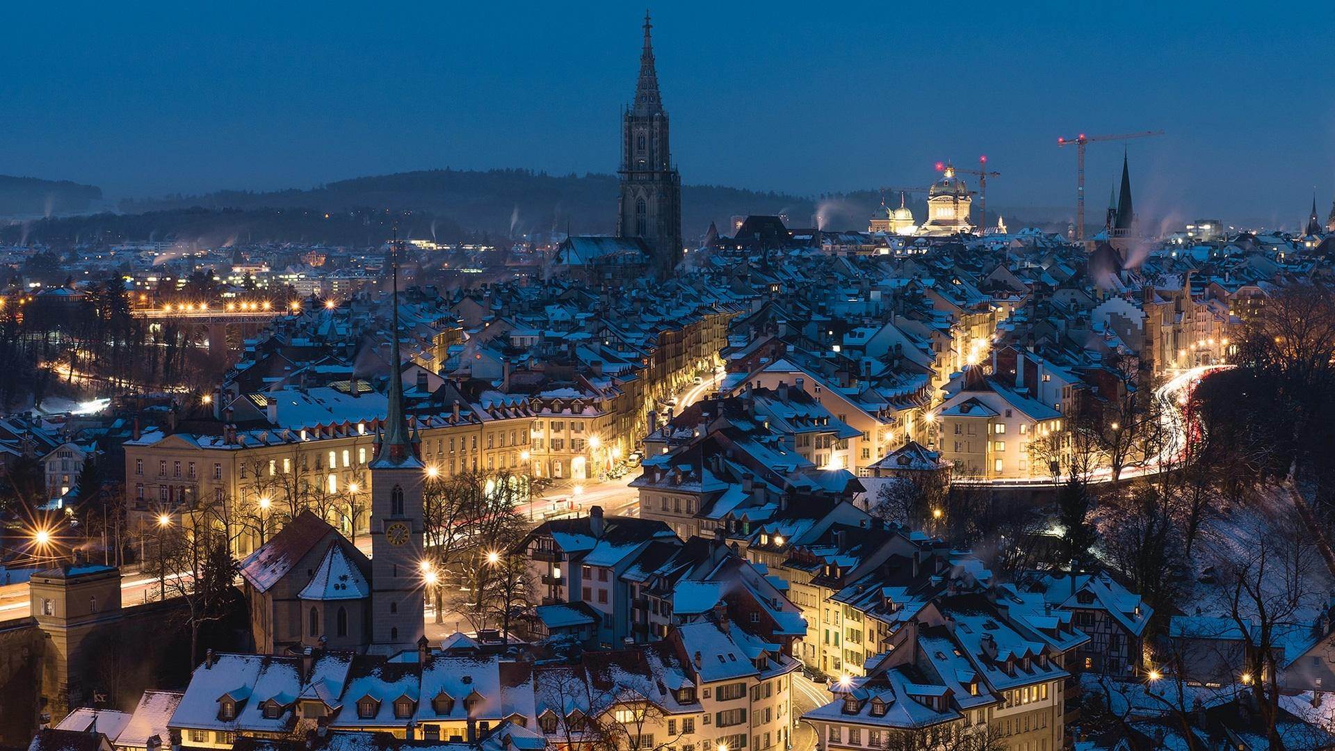 Winter Night In Bern HD Wallpaper | Wallpaper Studio 10 | Tens of ...