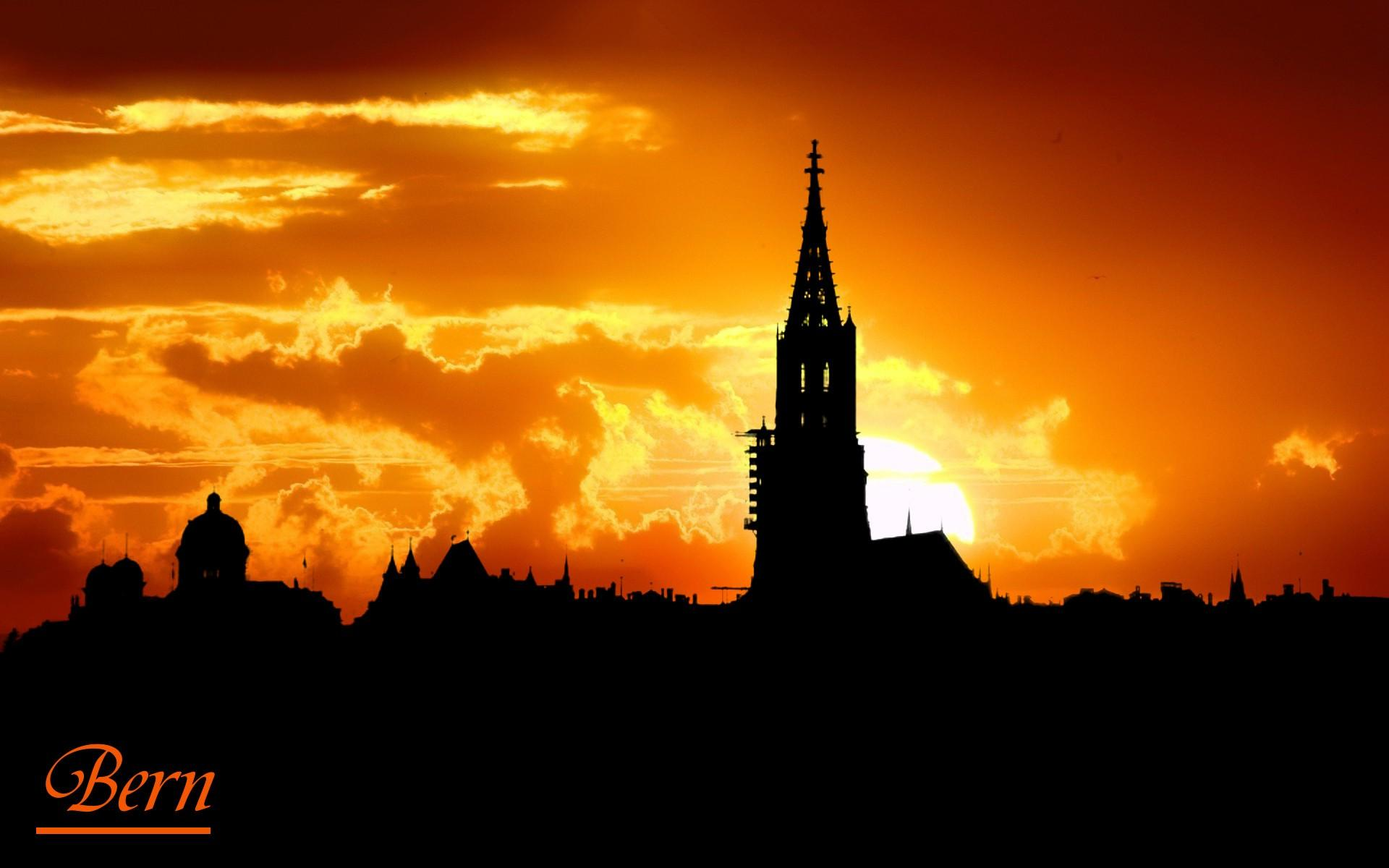 Bern, Skyline, City, Sunset, Sunrise Wallpapers HD / Desktop and ...