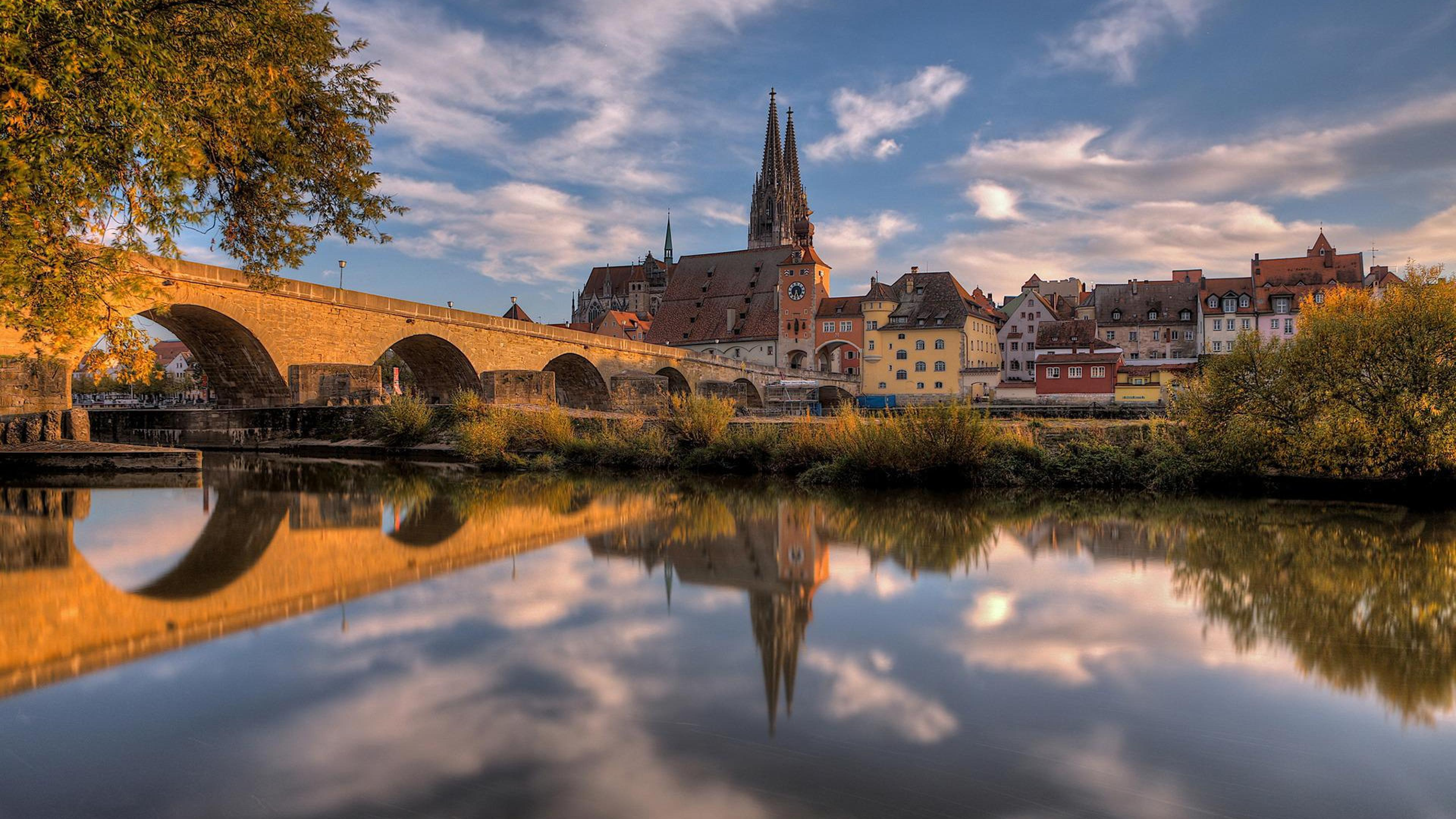 World Church Sky Germany Regensburg Europe House HD Wallpapers ...