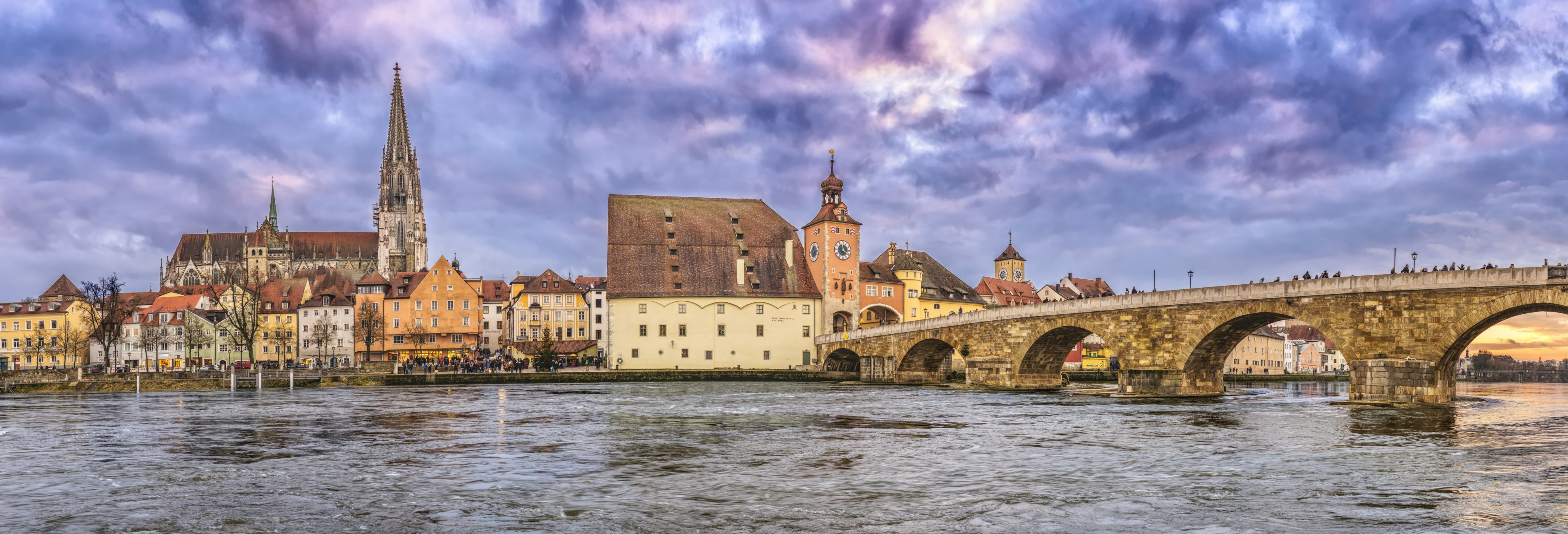 regensburg #stone bridge #dom #regensburg cathedral 4k wallpaper and ...