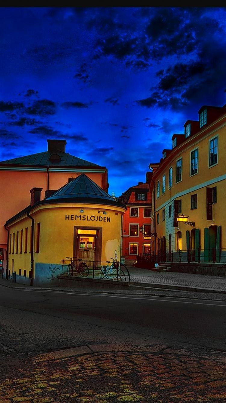 supernatural iphone wallpapers street in the town of uppsala sweden