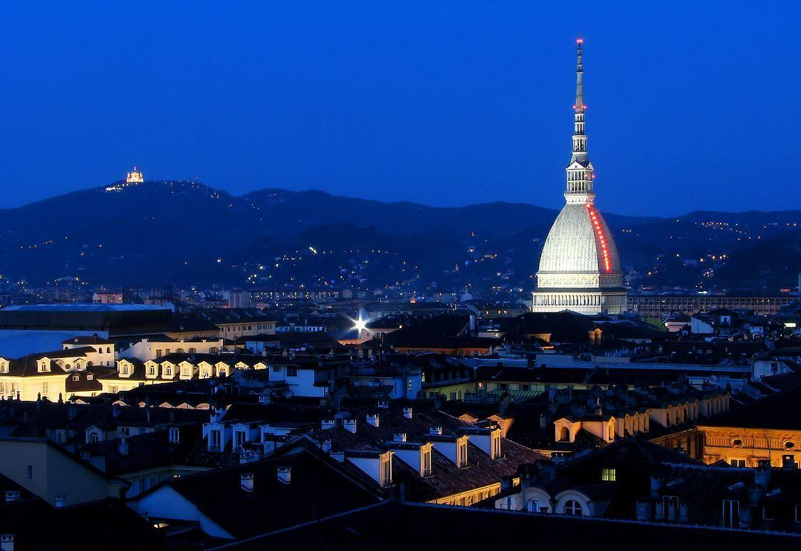 Skyline Turin City At Night HD Wallpapers Image Photo Backgrounds For