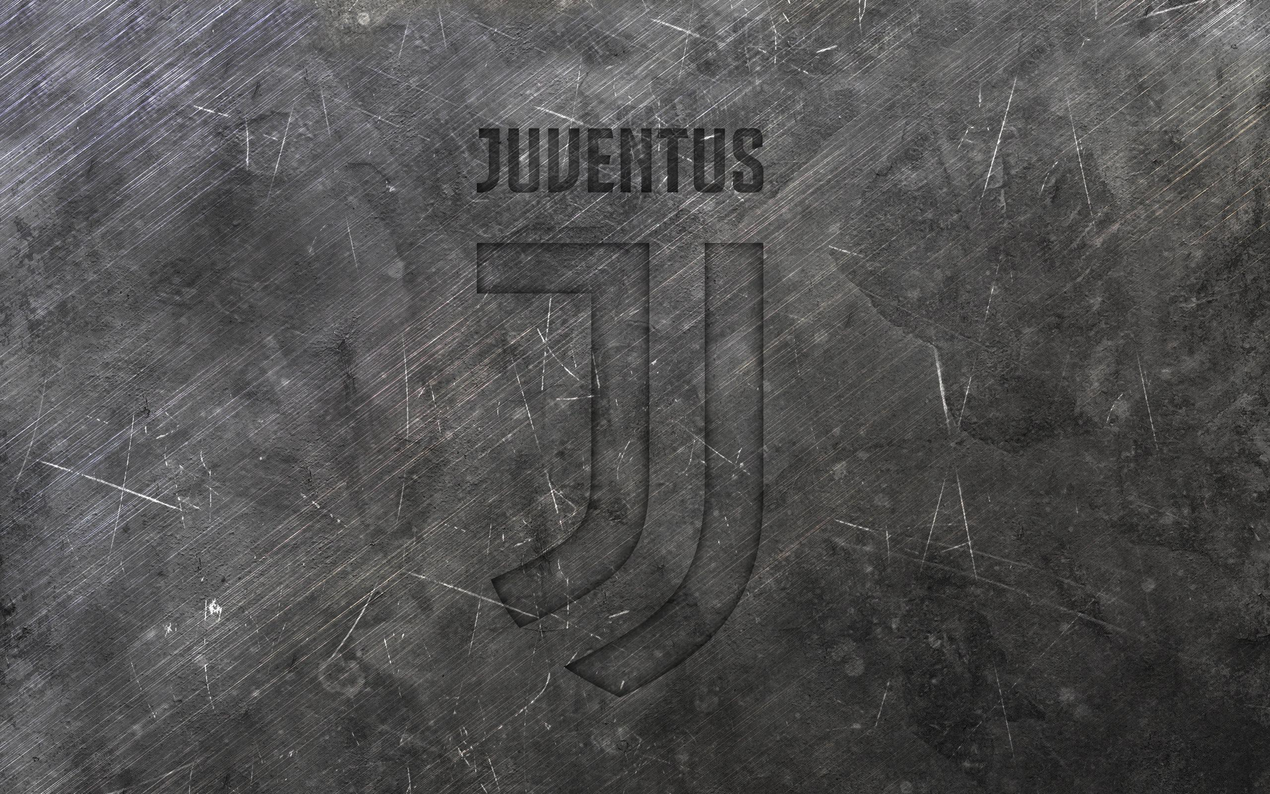Download wallpapers Juventus, new logo, metal texture, new emblem