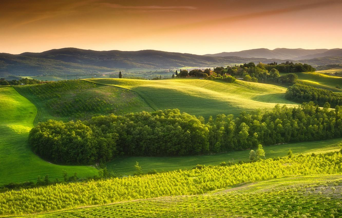 Wallpaper the sky, trees, landscape, nature, Italy, Landscape, sky ...