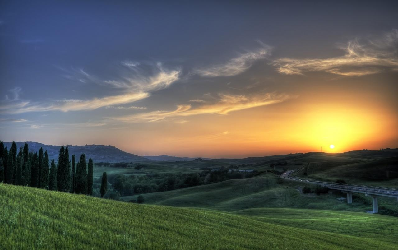 Tuscan sunset wallpapers