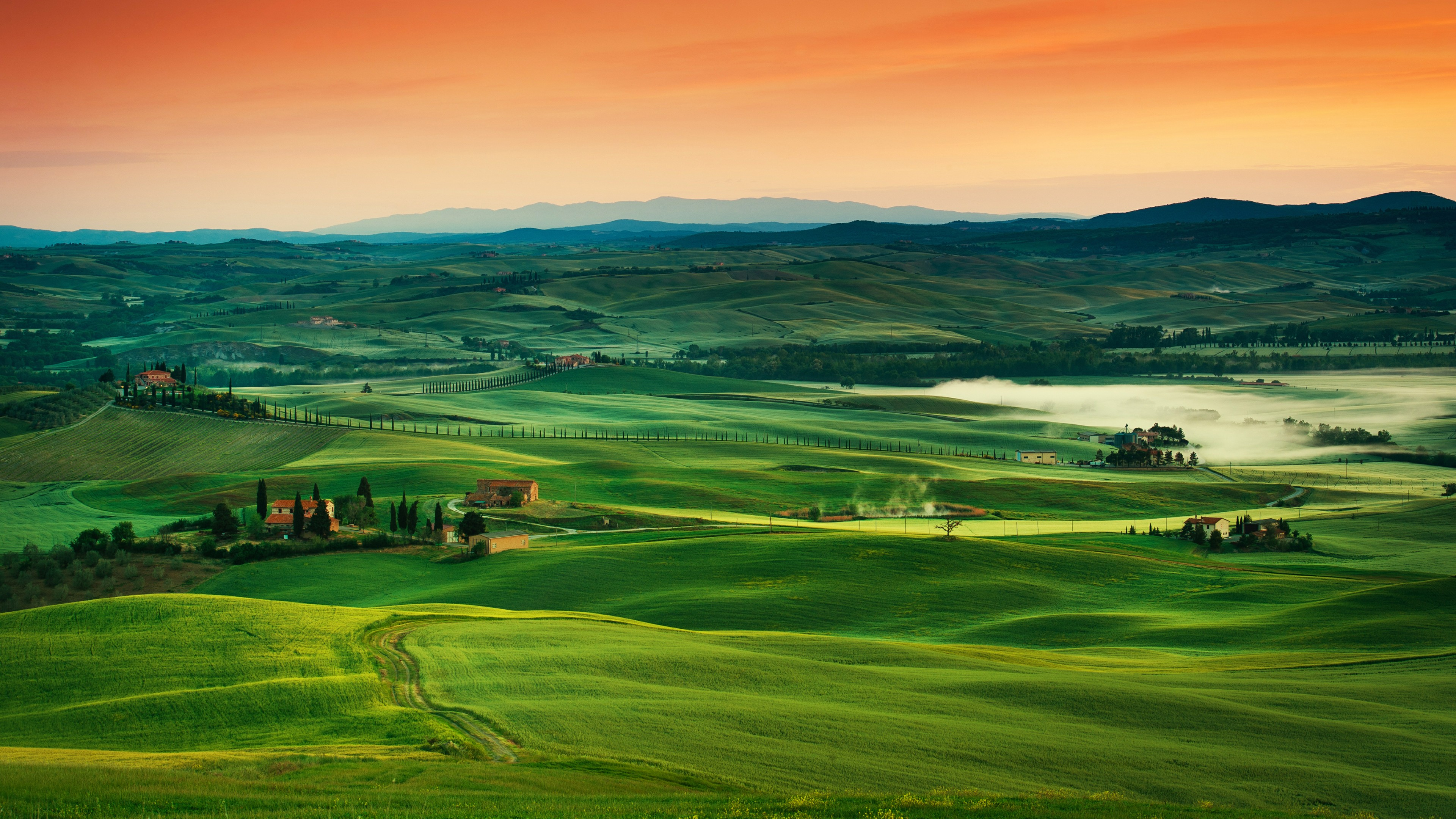 Rolling Countryside Of Tuscany, Italy 4K UltraHD Wallpaper ...