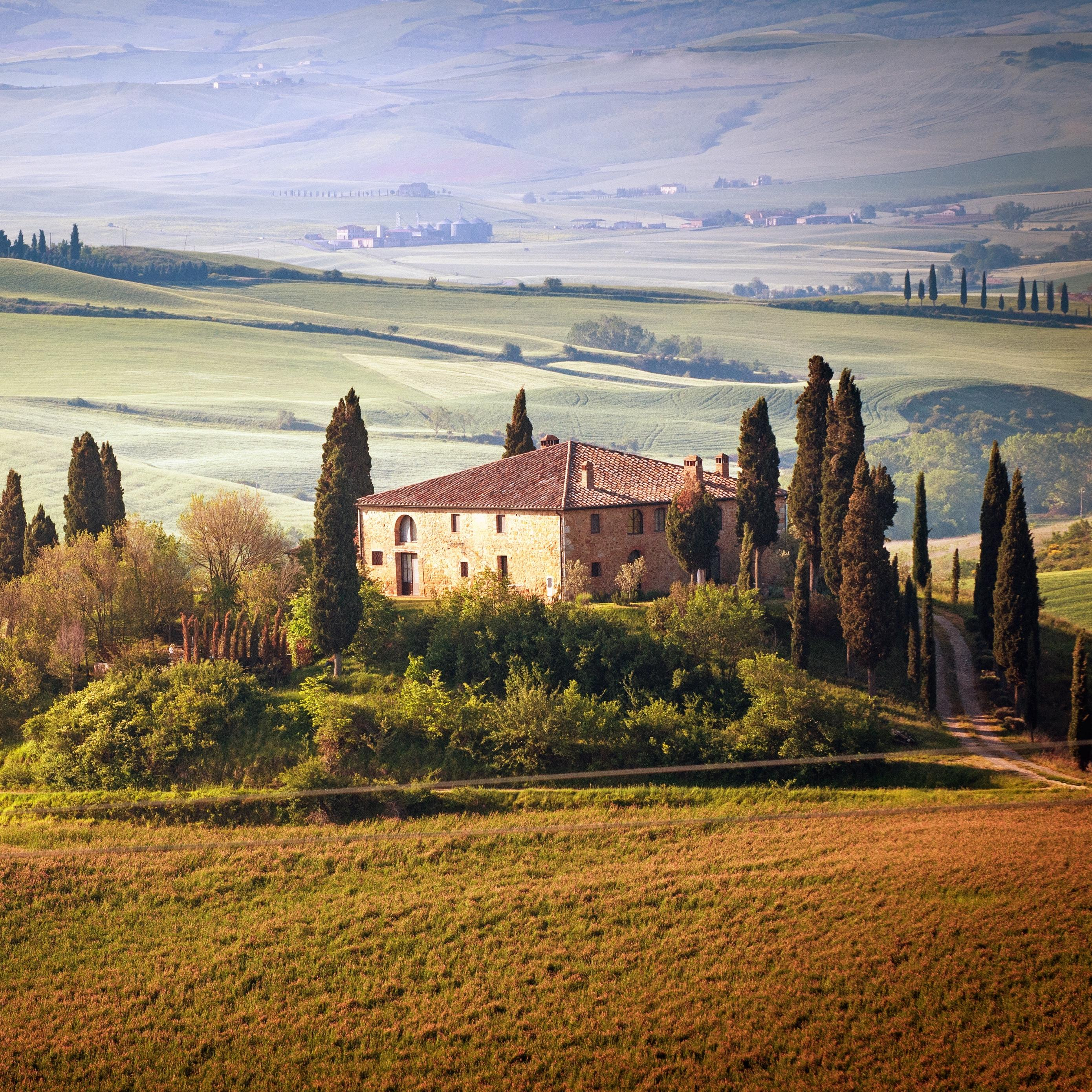 Download wallpaper 2780x2780 italy, tuscany, summer, countryside ...