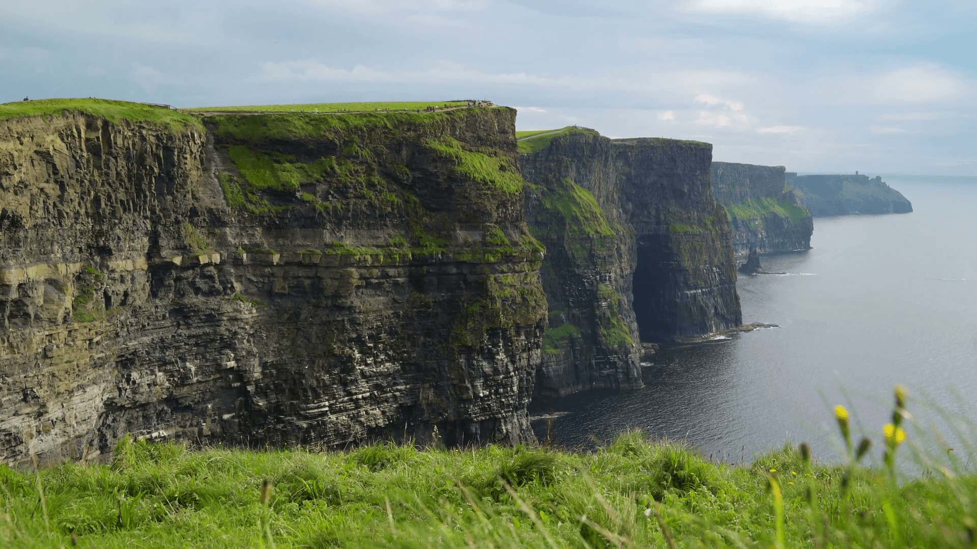 Beautiful Cliffs of Moher in Ireland Stock Video Footage ...