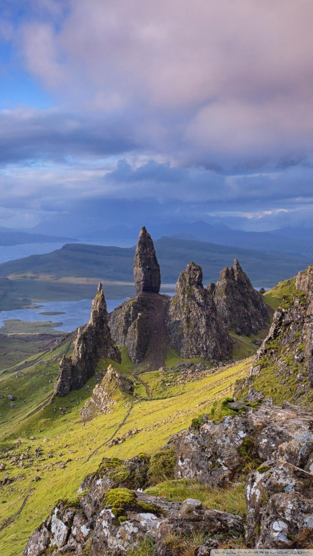 Free Old Man of Storr, Isle of Skye, Scotland phone wallpapers by