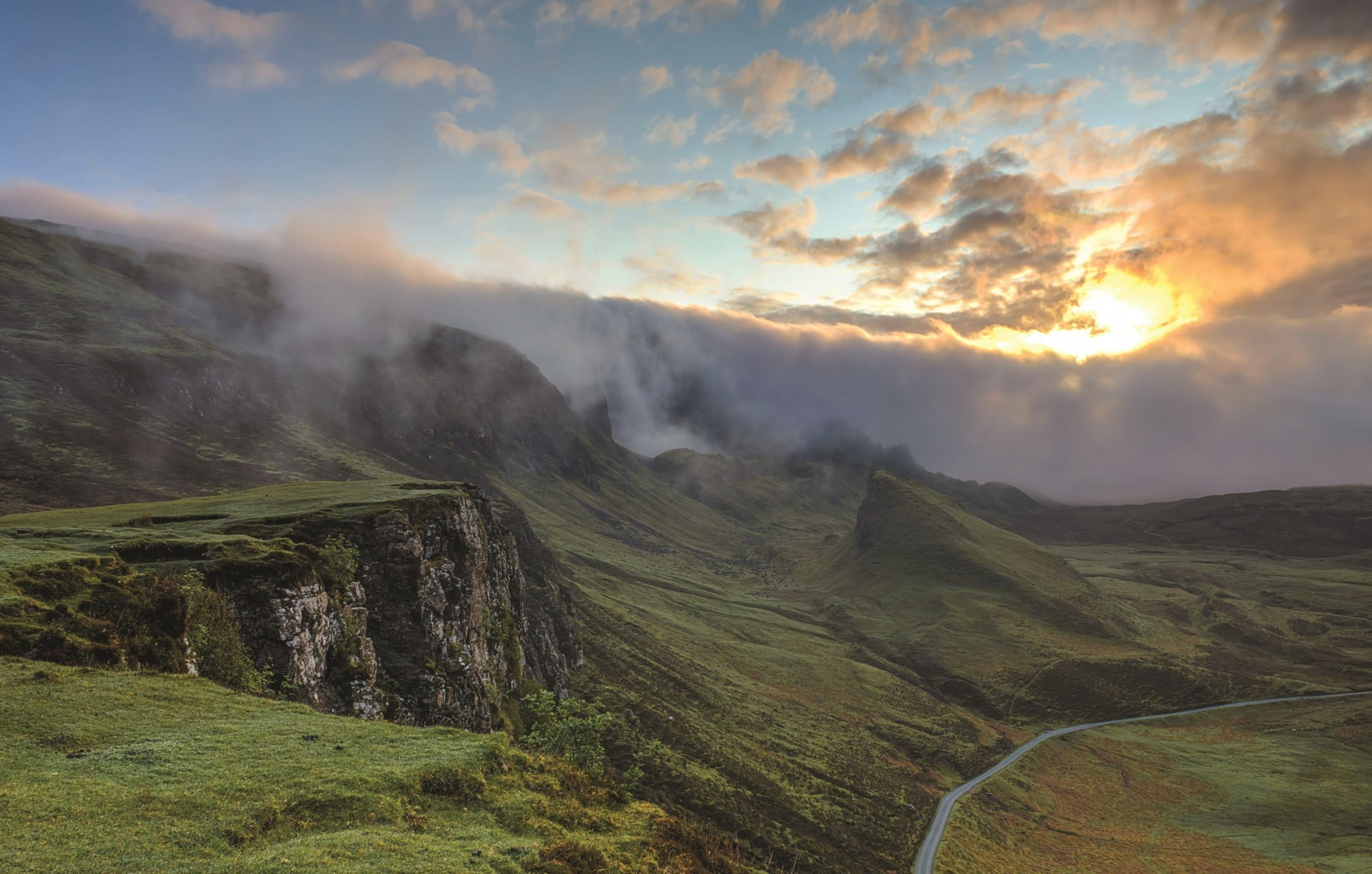 Download 3000x1911 Isle Of Skye, Scotland, Clouds, Sunset, Hills