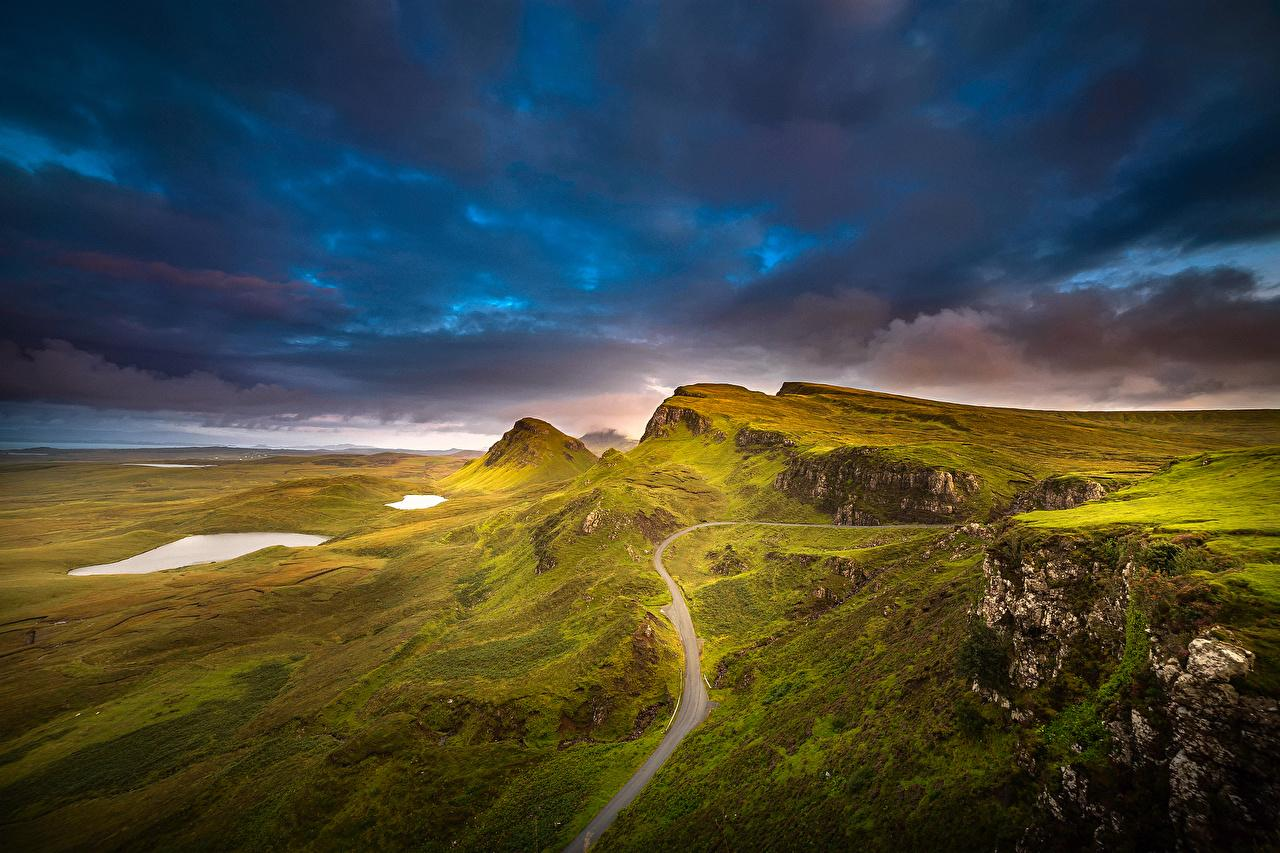 Picture Scotland Isle of Skye Inner Hebrides Nature Mountains
