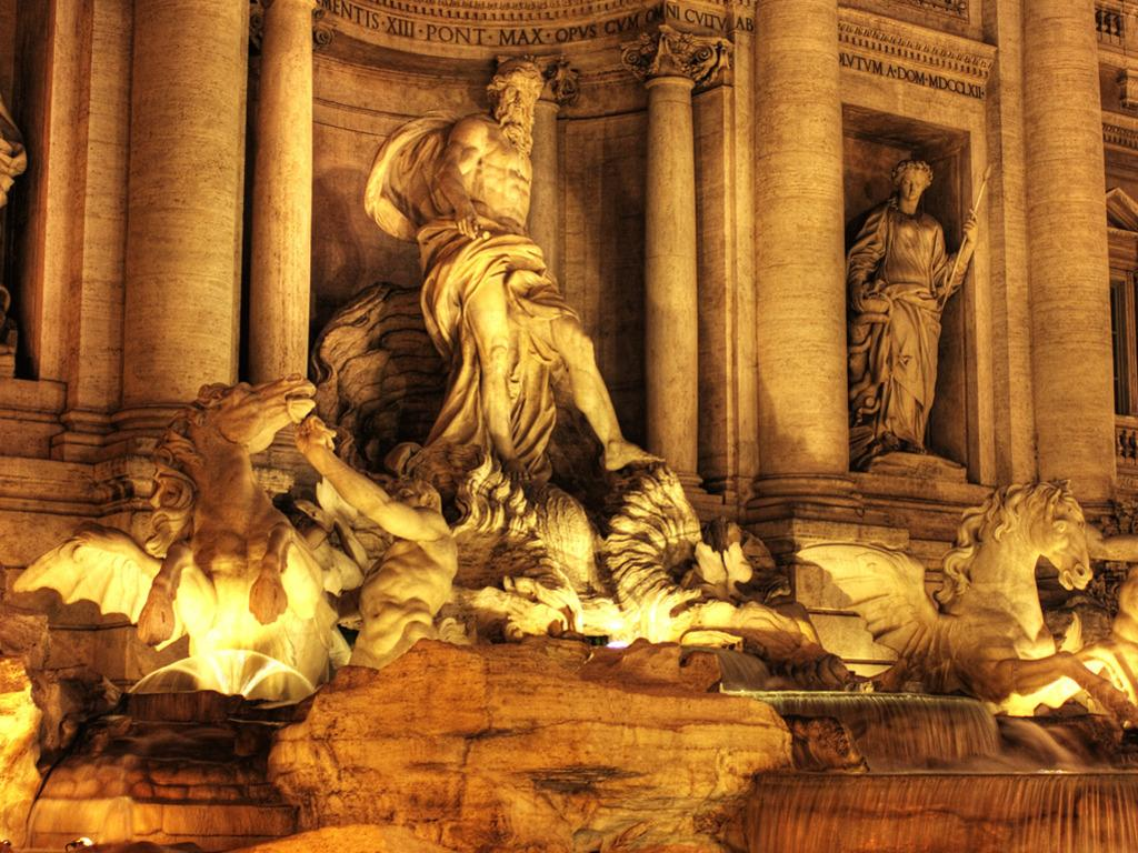 peartreedesigns: Trevi Fountain Famous Landmarks In Rome Italy Wallpapers