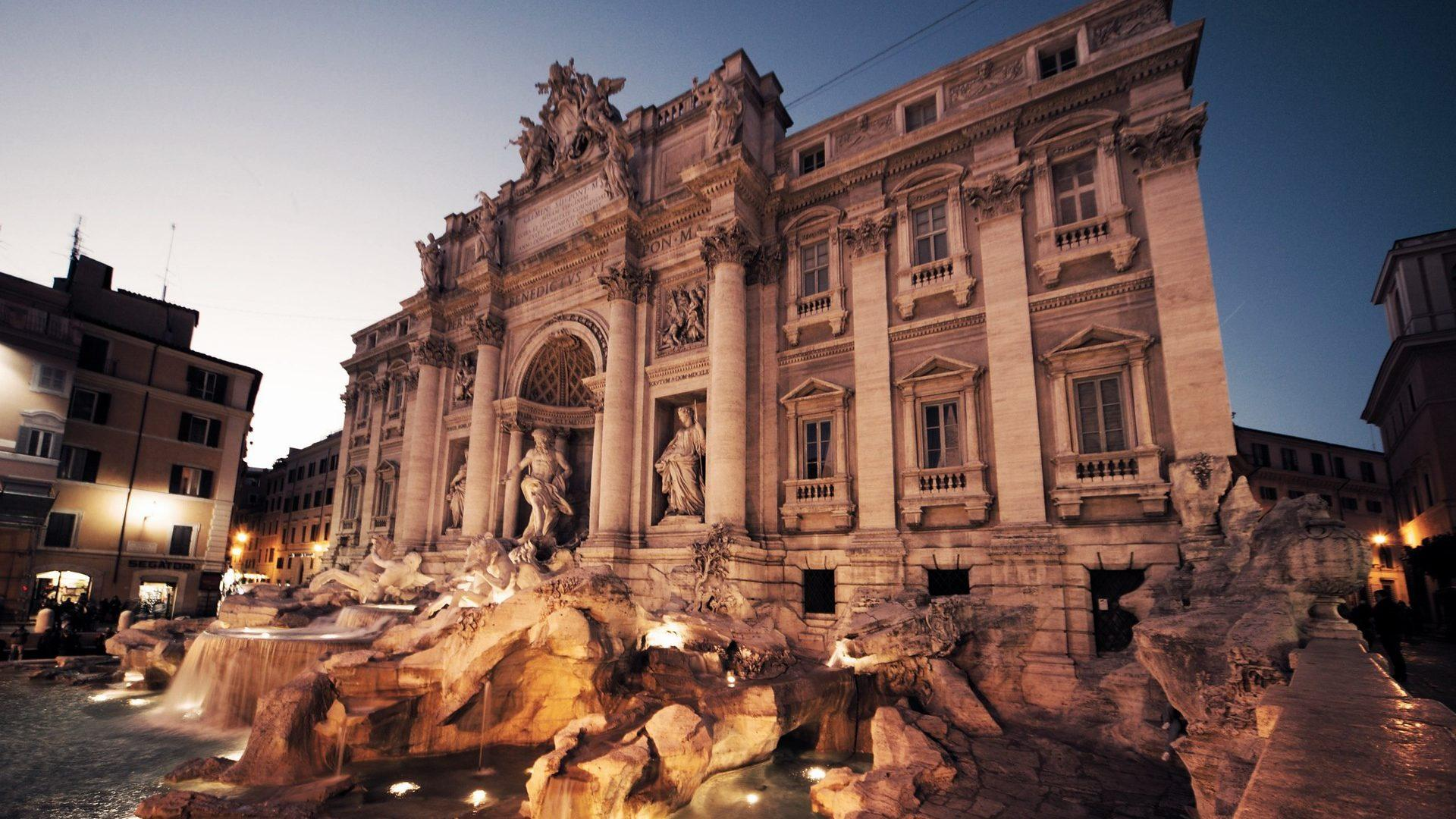 Best Angle Wallpapers Of The Trevi Fountain In Rome Italy