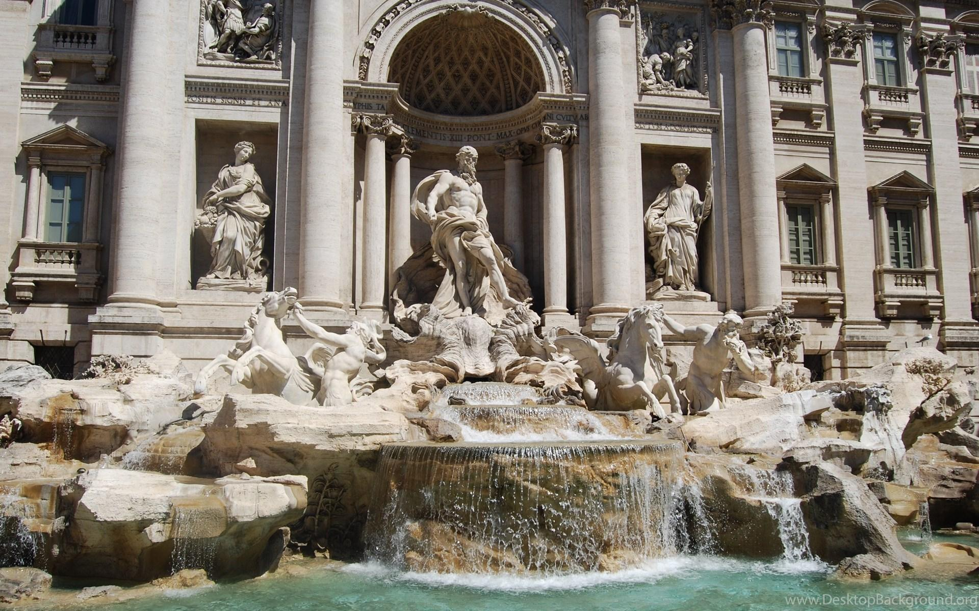 Travel. Rome. Monument. Trevi Fountain HD Wallpapers. 4K Wallpapers