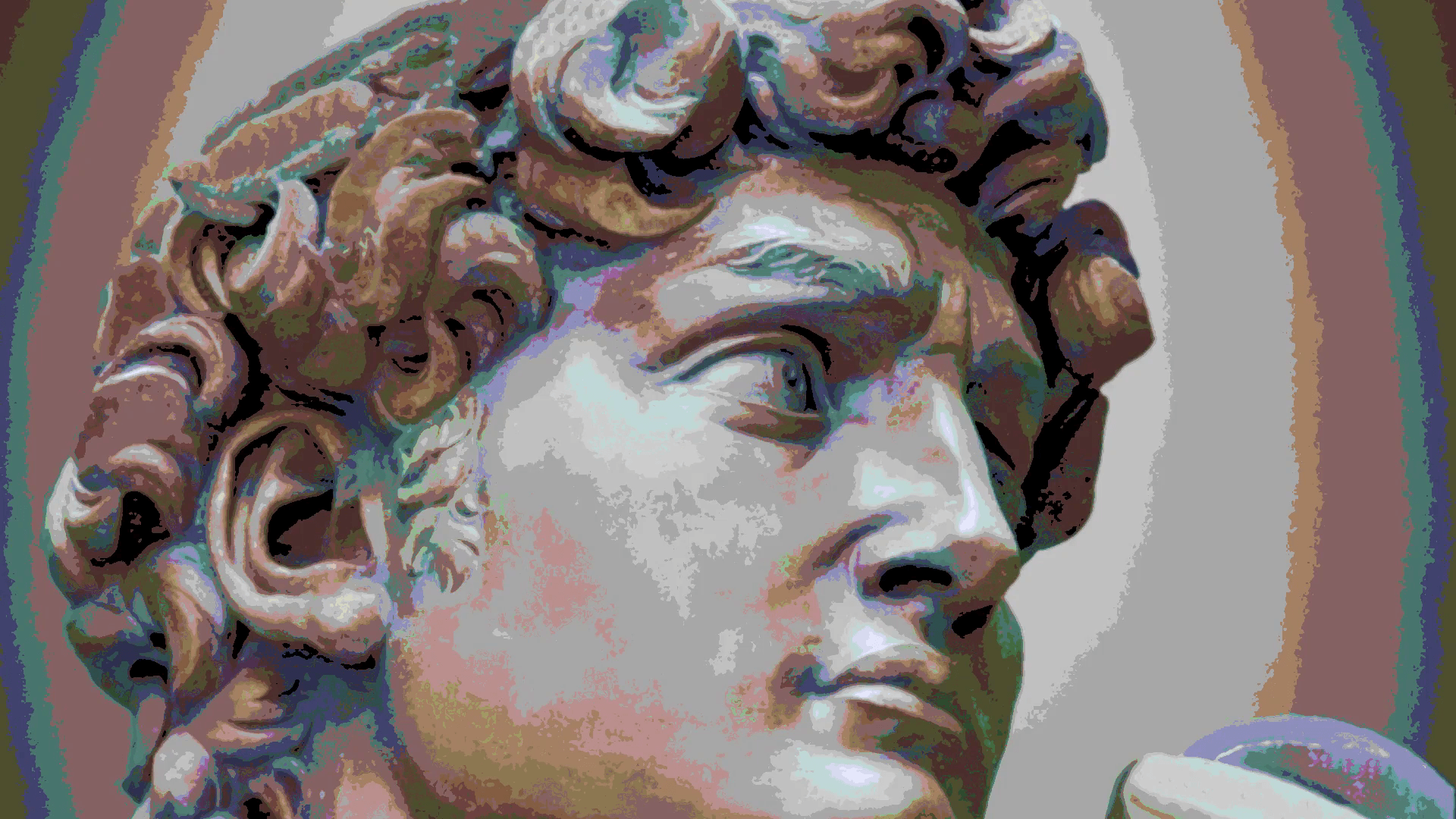 Detail Close-Up of Michelangelo's David Statue With the Effect of ...