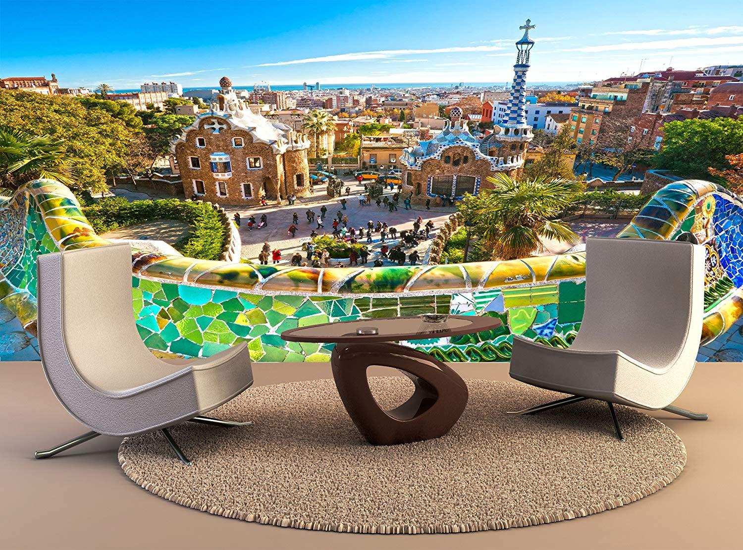 Wall Tapestry Park Guell Wall Art Decor Photo Wallpapers Poster Print