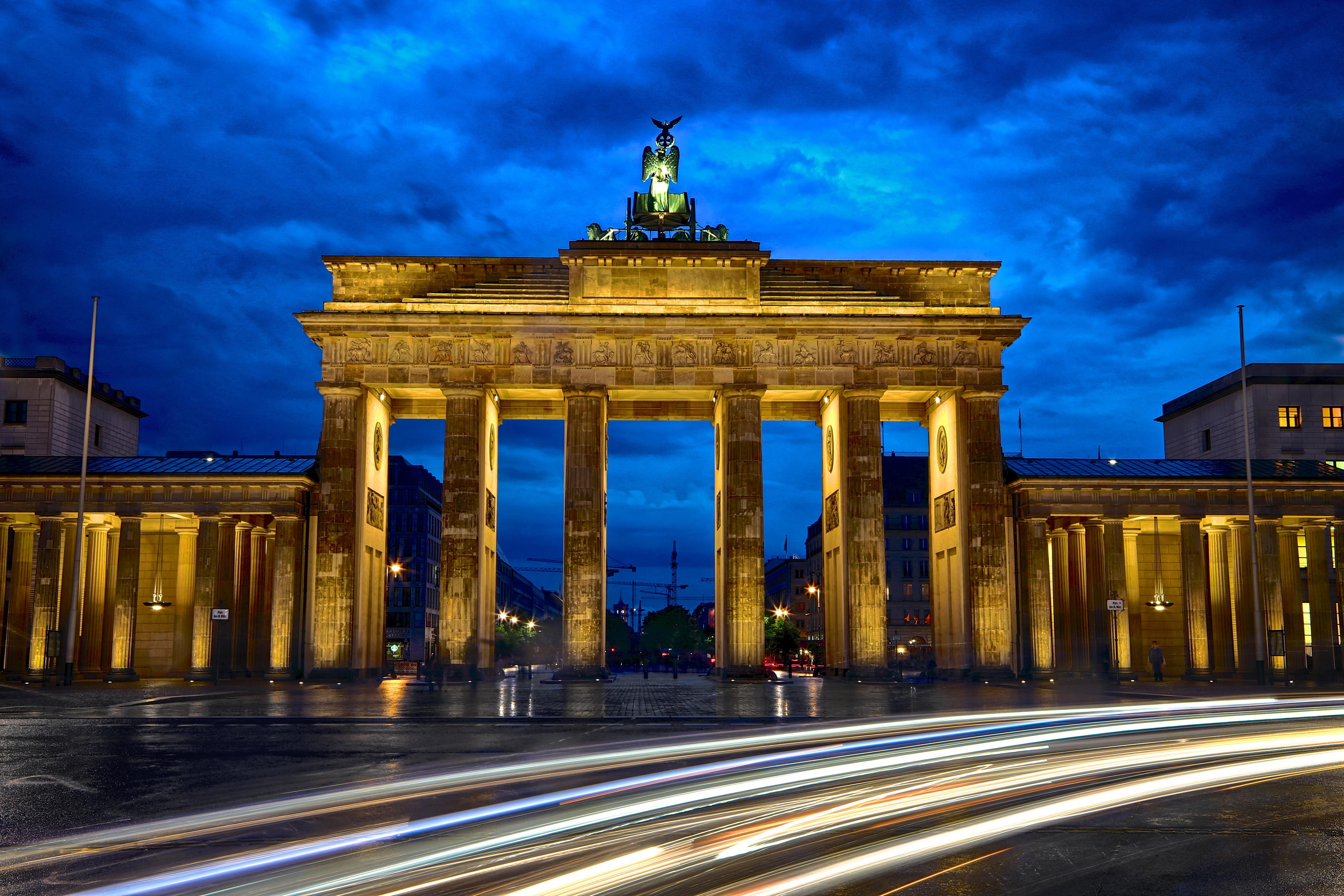 Wallpapers Brandenburg Gate, Berlin, Germany, 5K, World,