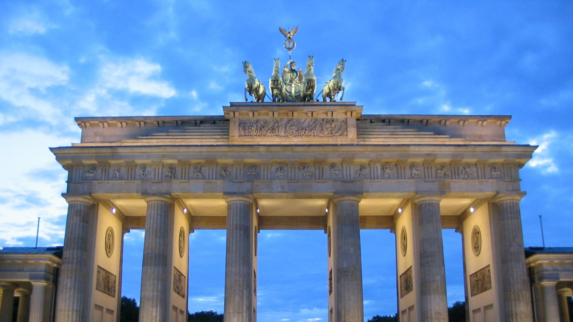 Full HD Wallpapers brandenburg gate historic monument berlin, Desktop