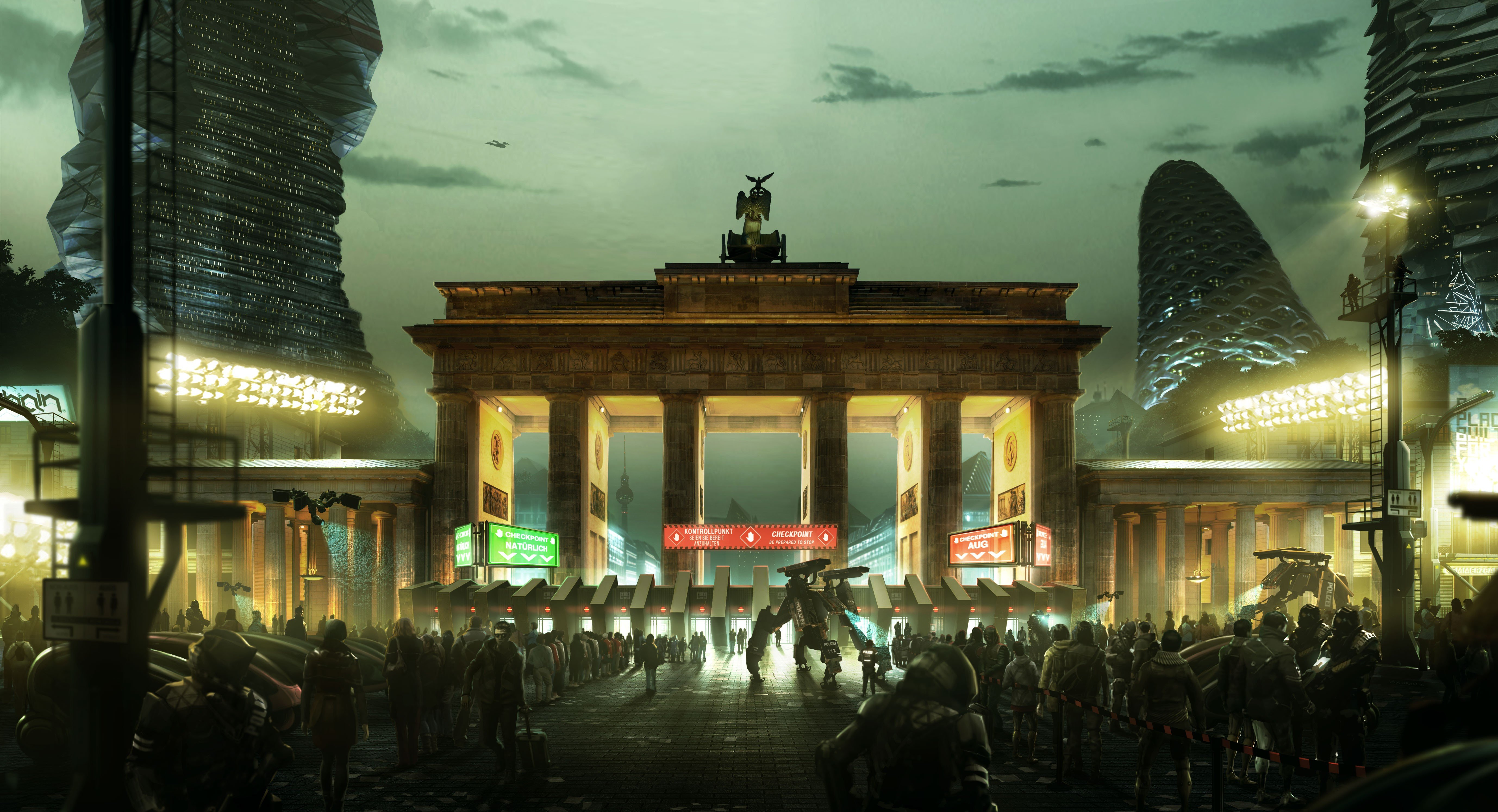 deus ex mankind divided video games brandenburg gate deus ex