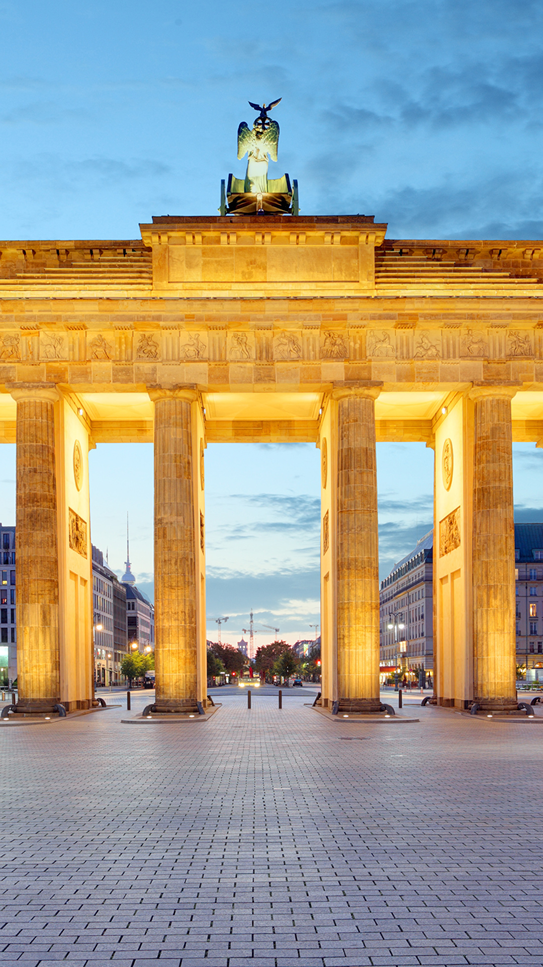 Image Cities Berlin Germany Town square Brandenburg Gate 1080x1920