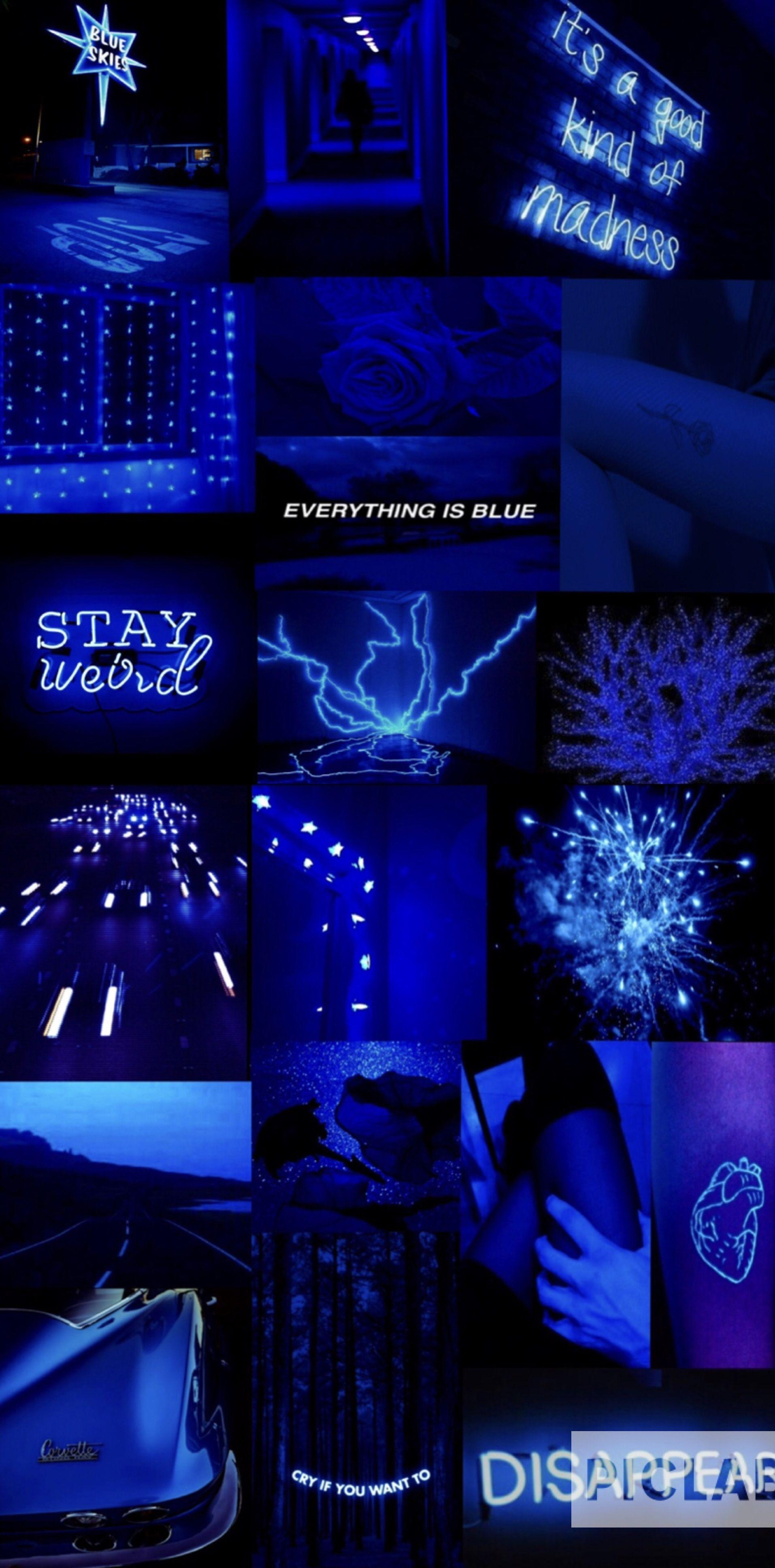 Blue aesthetic Dark blue aesthetic Electric blue aesthetic Aesthetic