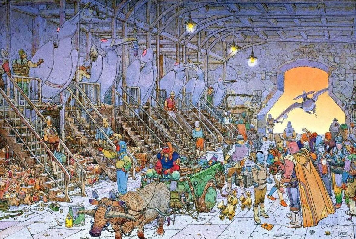 moebius art wallpaper - Google Search | art drawings | Moebius art .