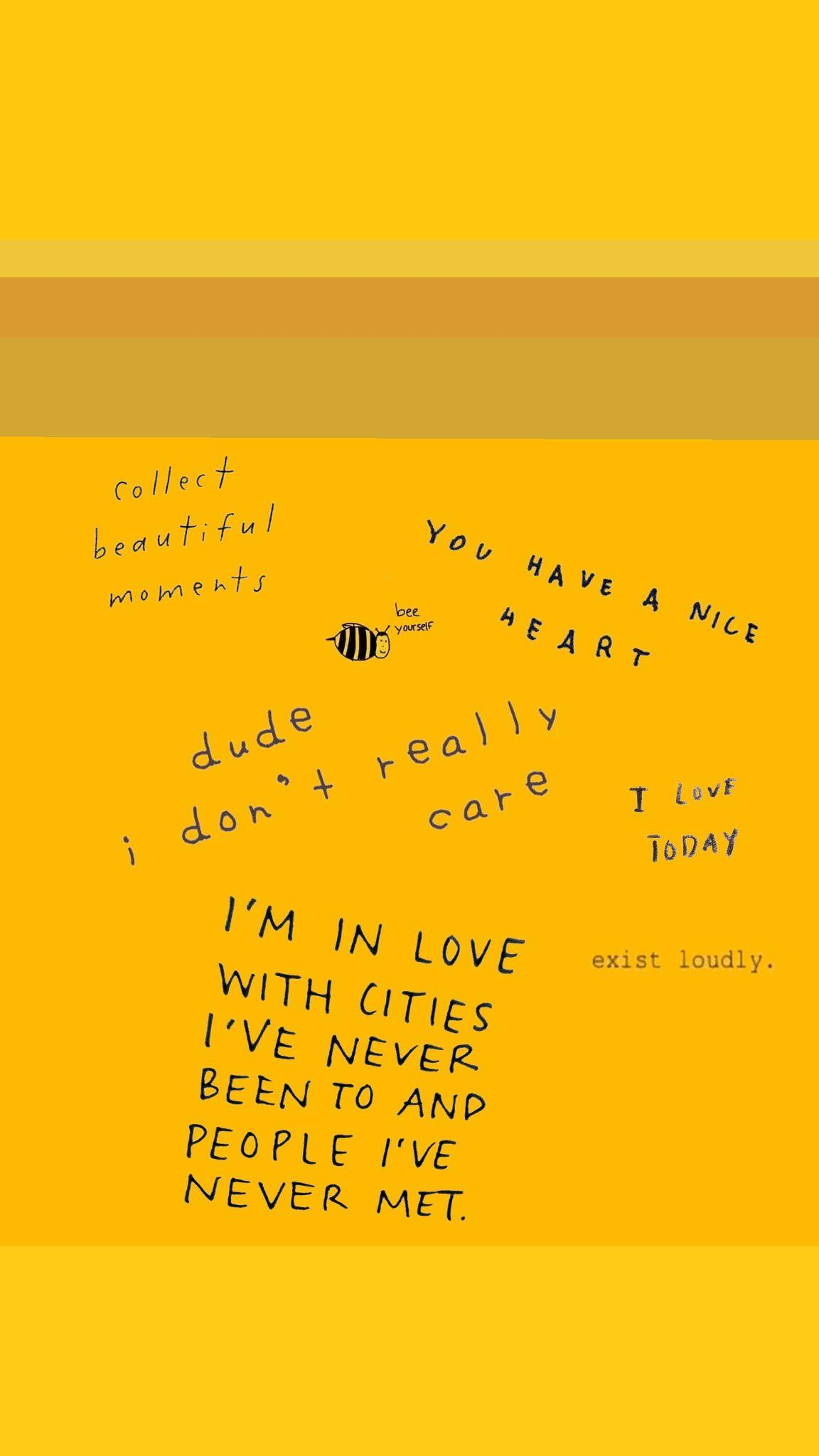 yellow aesthetic wallpapers iphone quotes