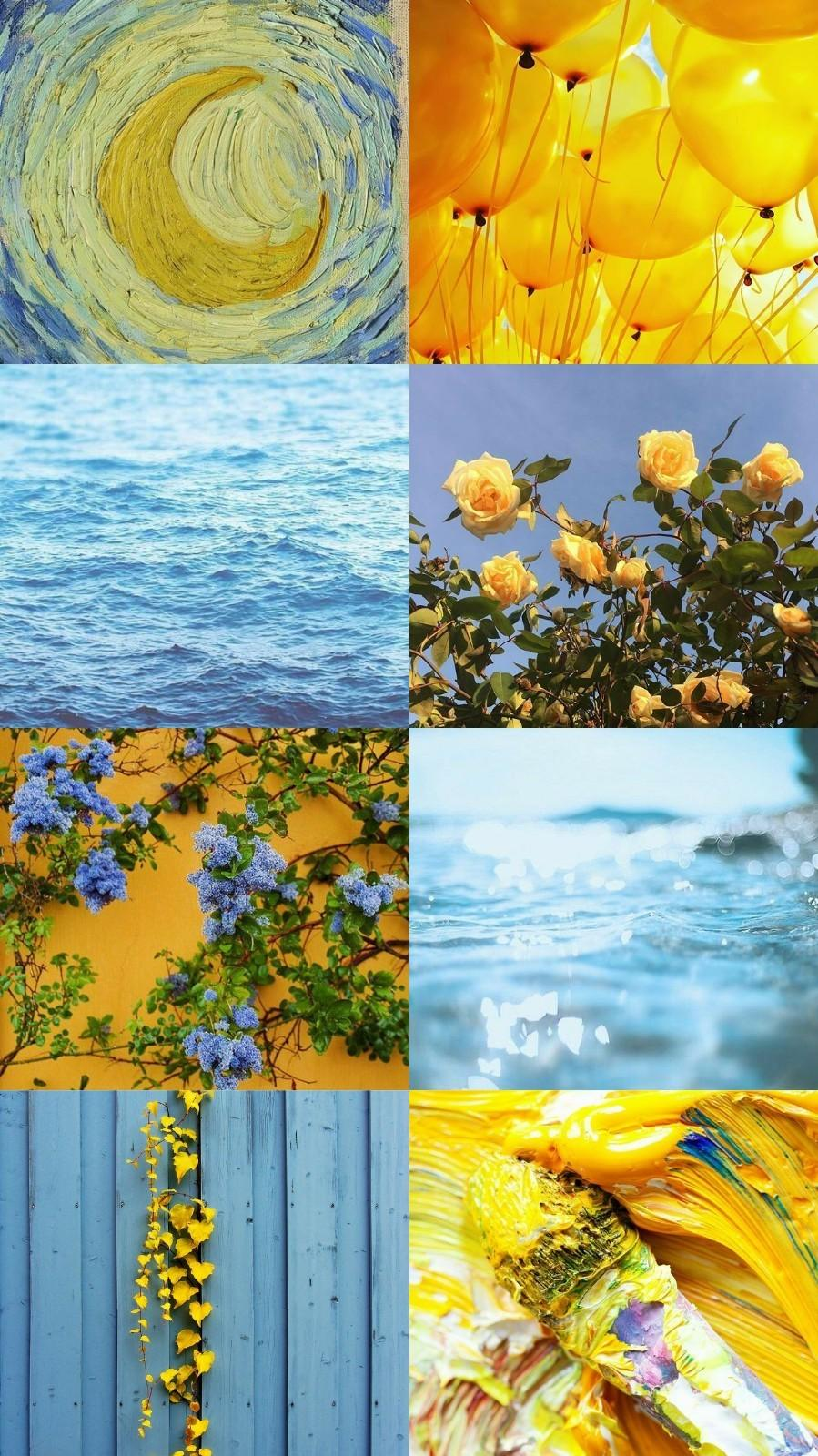 Blue And Yellow Aesthetic Wallpapers Wallpaper Cave